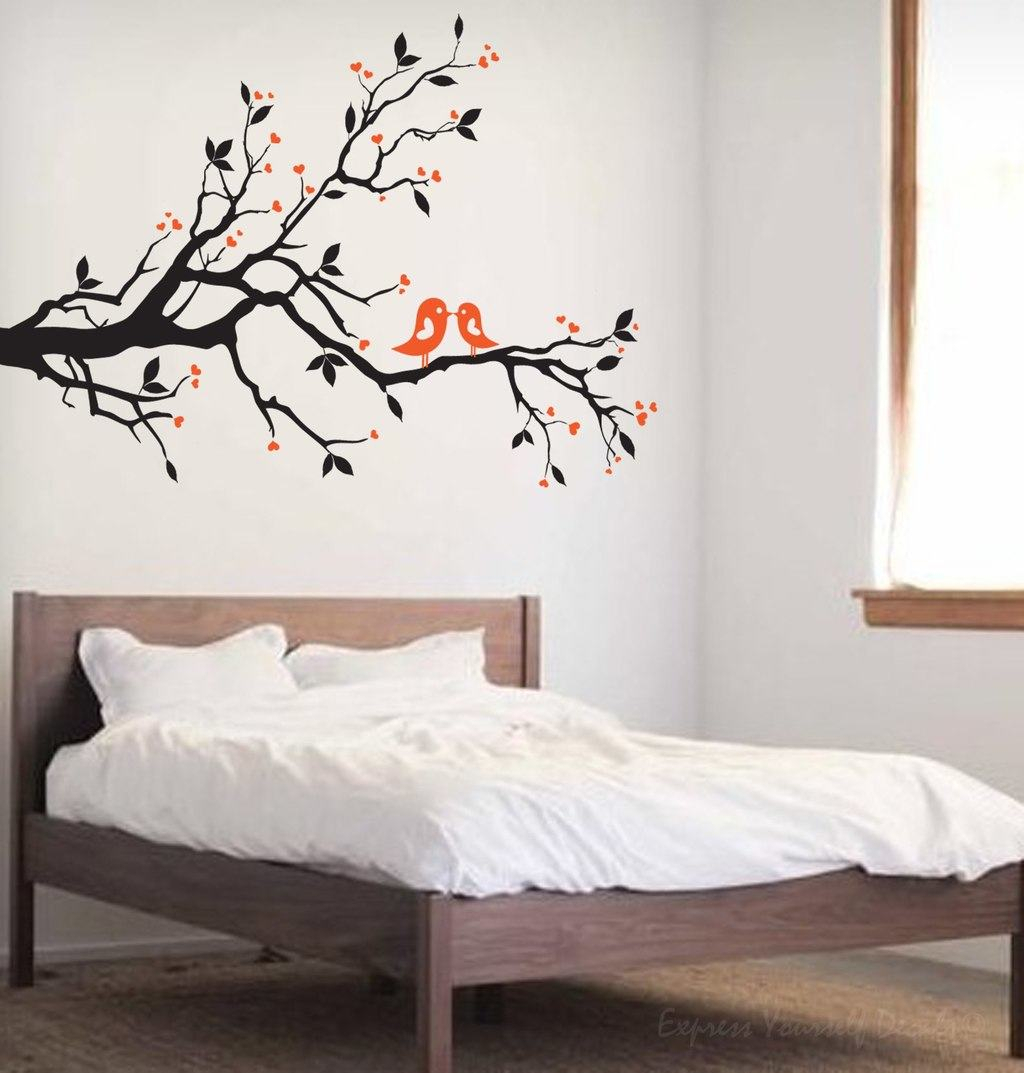 Love Bird Tree Branch Wall Decal | Wall Art Decal Sticker Pertaining To Birds On A Branch Wall Decor (View 6 of 30)