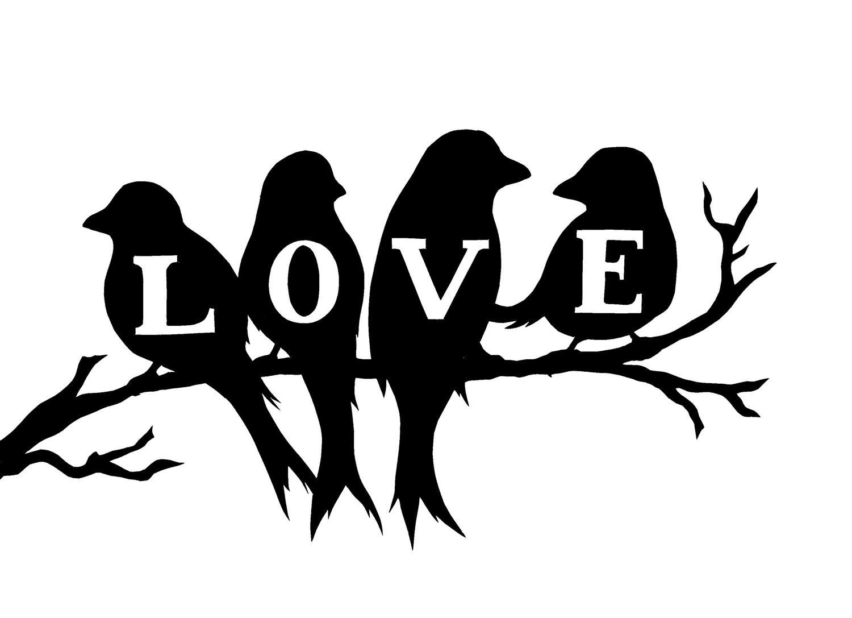 Love Birds Vinyl Wall Decal, Wall Decor, Birds On A Branch In Birds On A Branch Wall Decor (View 24 of 30)