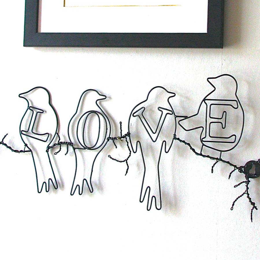 Love Birds Wire Wall Artlondon Garden Trading Bird Within Rioux Birds On A Wire Wall Decor (View 6 of 30)