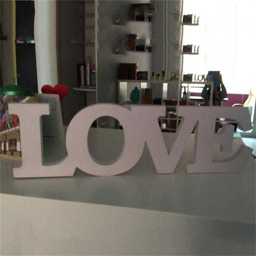 """Love Letters Wedding Photo Props Wedding Signs Home Room Pertaining To Grey """"eat"""" Sign With Rebar Decor (View 13 of 30)"""