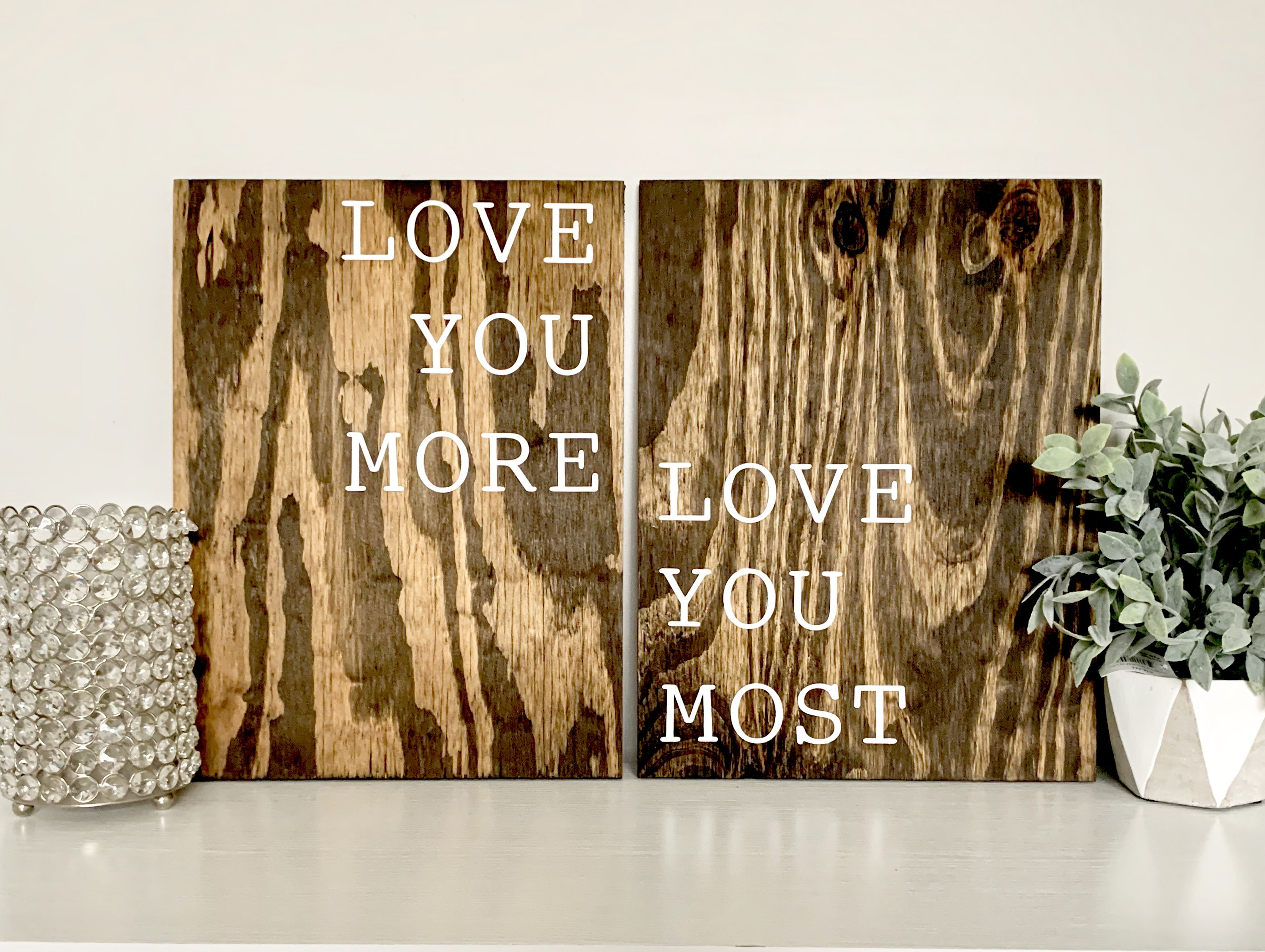 Love Quotes | Love You More Sign | Love You Most Sign | Wood Sign | Wood  Home Decor | Home Decor | Bedroom Decor | Wall Art | Wood Wall Art with regard to 'love You More' Wood Wall Decor (Image 17 of 30)