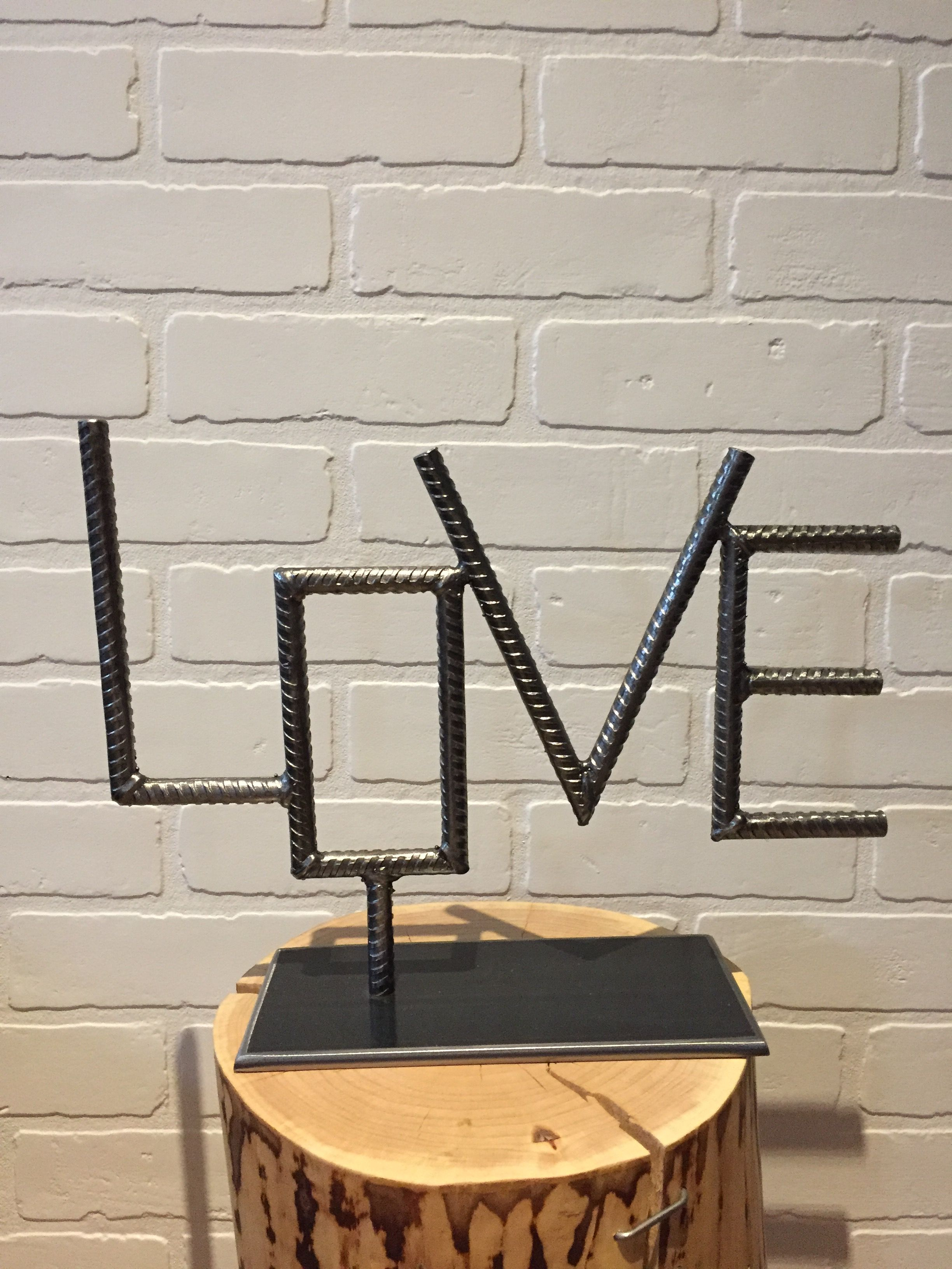 Love & Rebaryanick Bluteau | Welding | Welding Art with Coffee Sign With Rebar Wall Decor (Image 11 of 30)