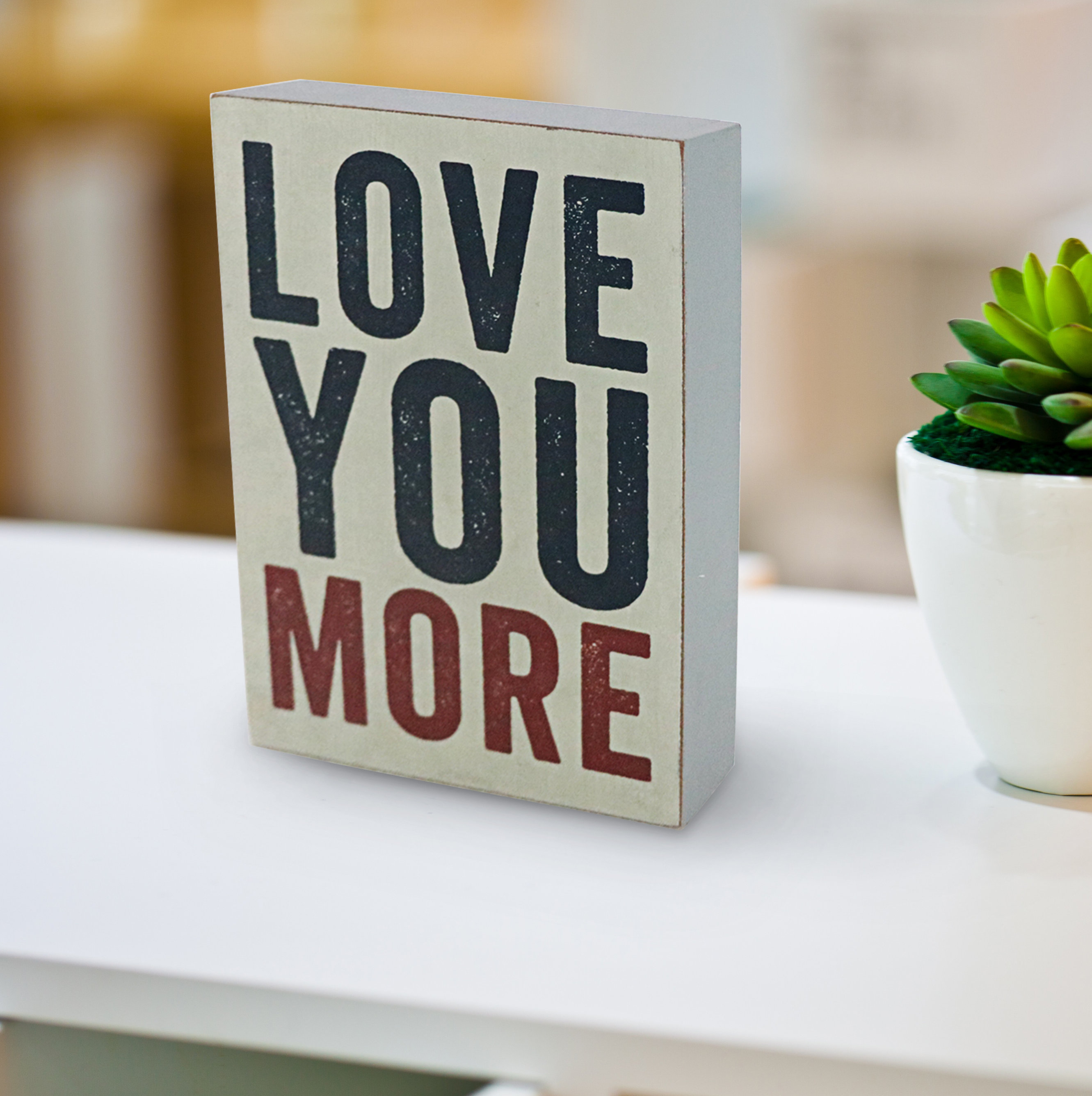 Love You More Wooden Wall Décor in 'Love You More' Wood Wall Decor (Image 24 of 30)