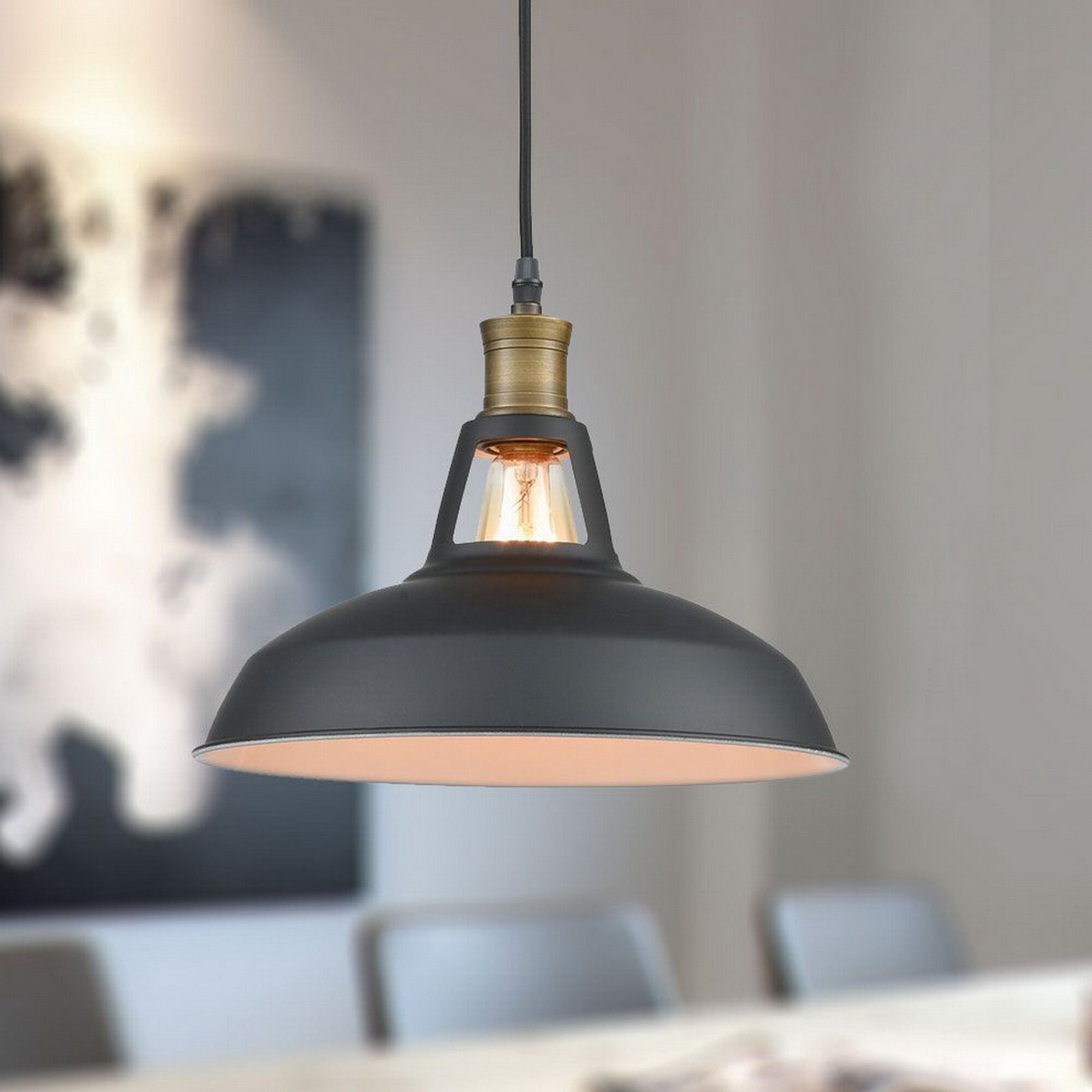 Ludovic Plug In 1 Light Dome Pendant Intended For Cinchring 1 Light Cone Pendants (View 19 of 30)