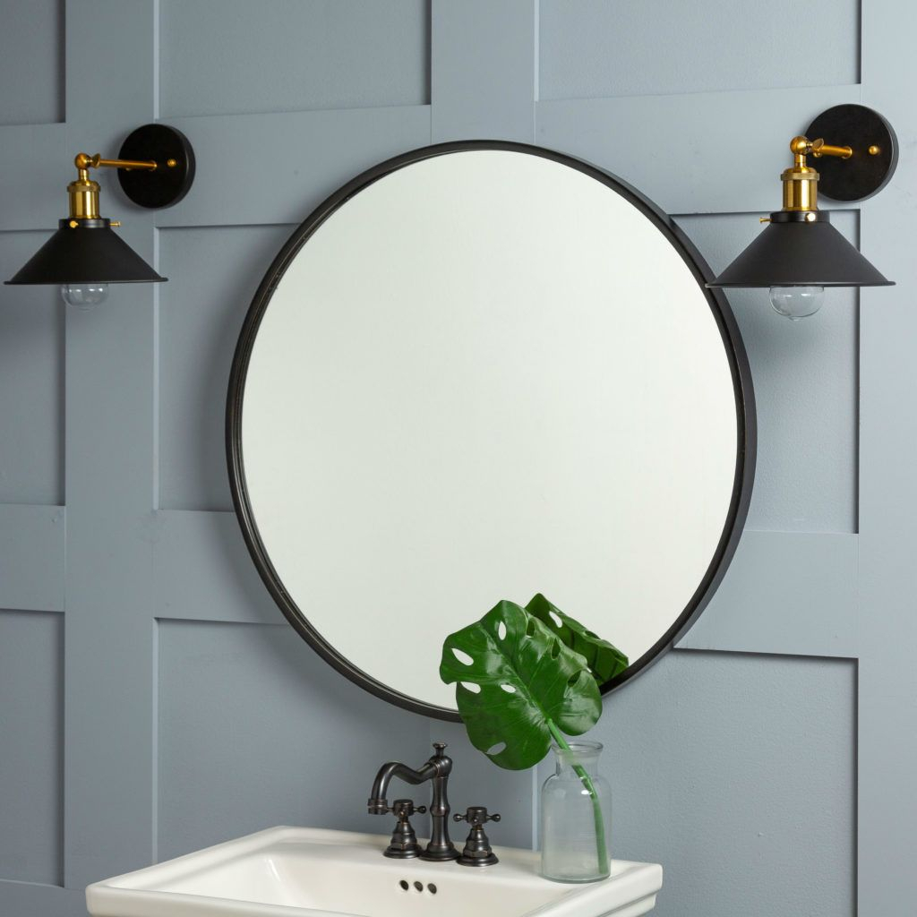 Luna Wall Mirror In 2019 | Lake House | Round Wall Mirror With Regard To Menachem Modern & Contemporary Accent Mirrors (Image 14 of 30)