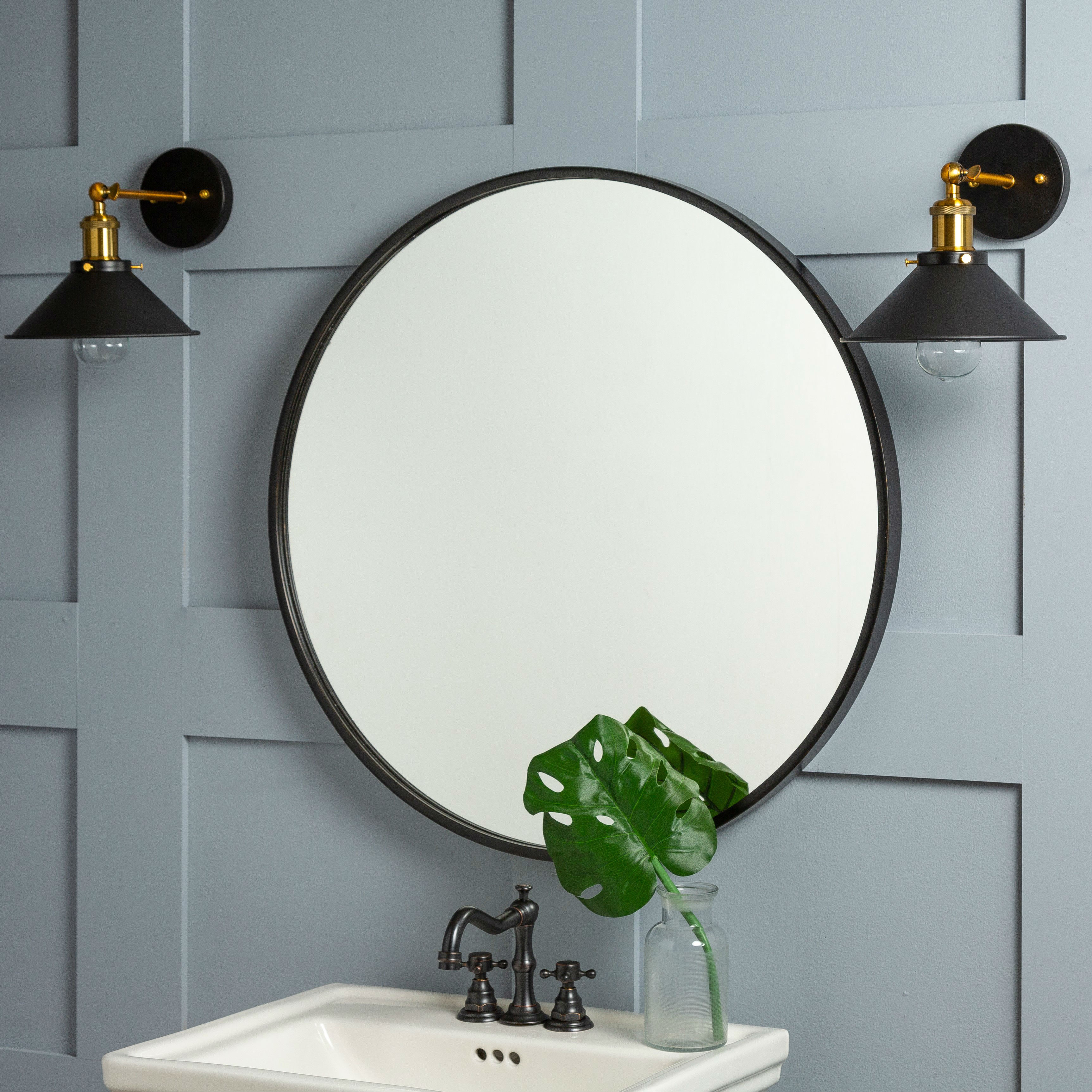 Luna Wall Mirror With Luna Accent Mirrors (View 21 of 30)
