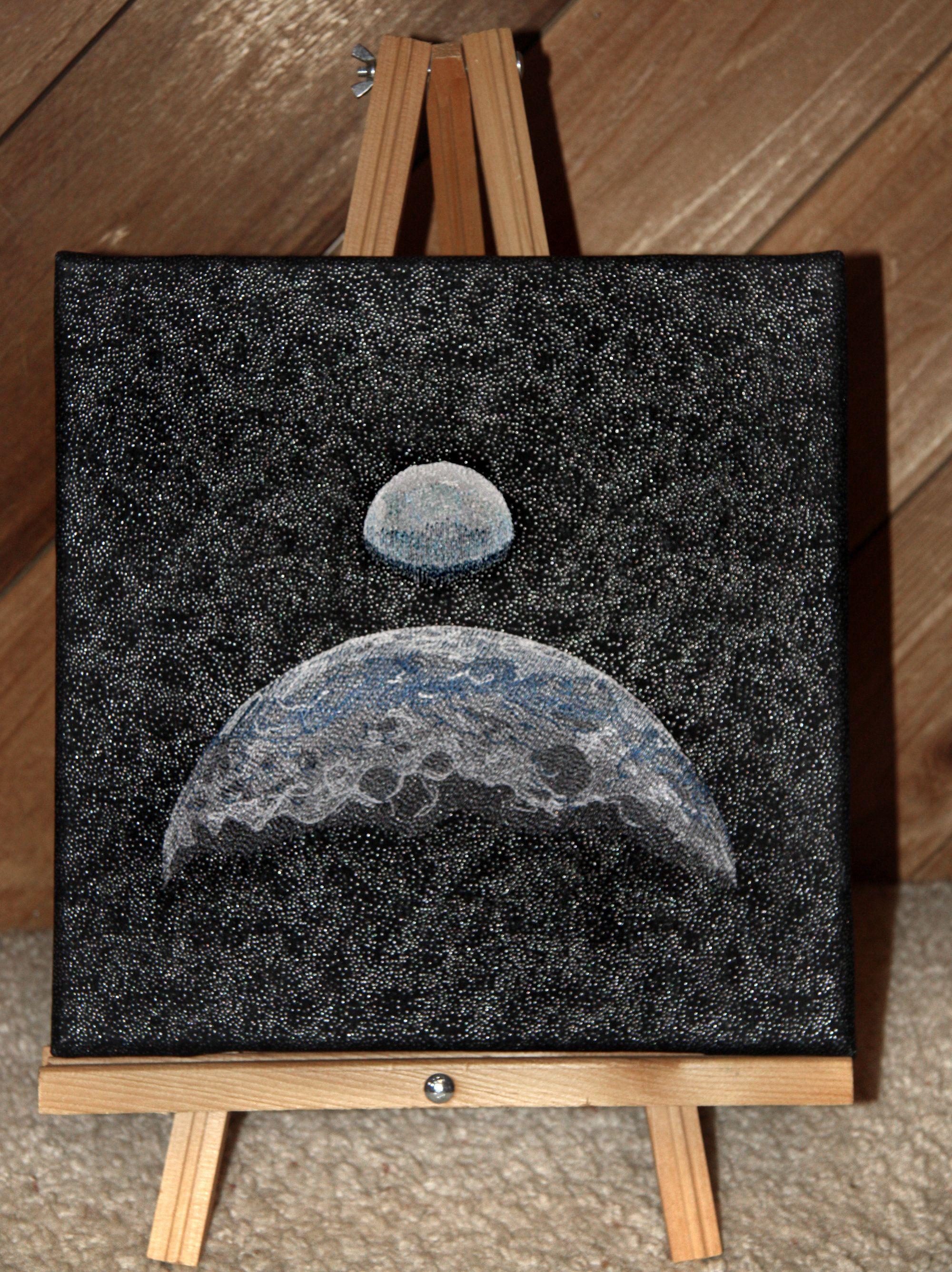 Lunar Landing 50Th Anniversary Handmade Embroidered Wall Art throughout Landing Art Wall Decor (Image 16 of 30)