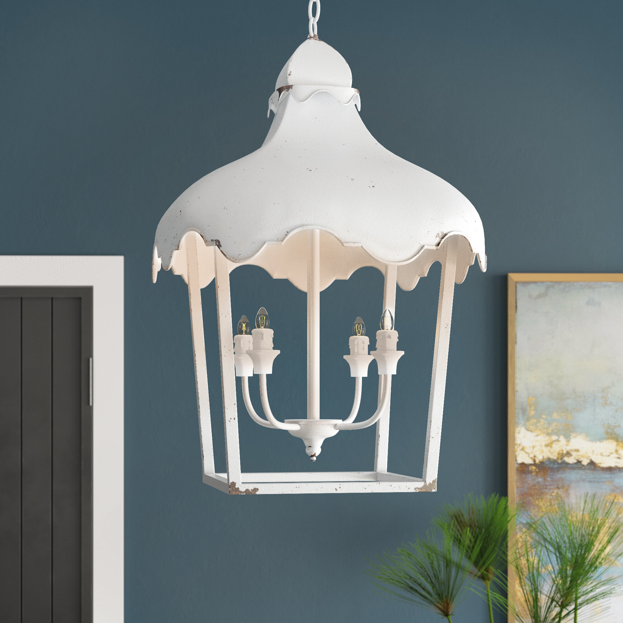 Lussan 4-Light Lantern Geometric Pendant & Reviews | Joss & Main with Isoline 2-Light Lantern Geometric Pendants (Image 19 of 30)