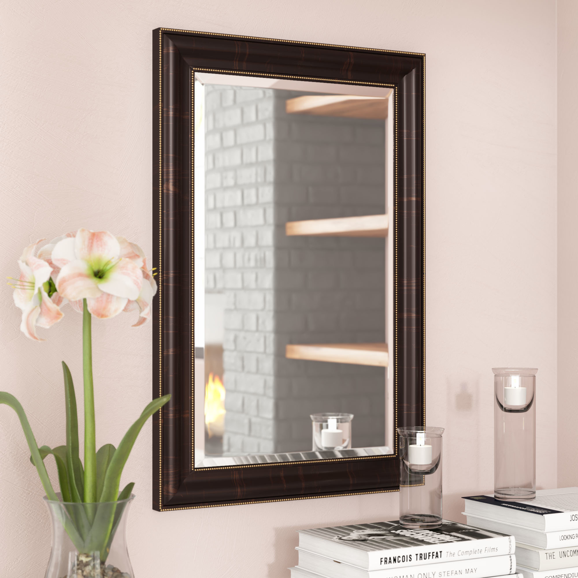 Luxe Decor Beaded Mirror | Wayfair Throughout Lake Park Beveled Beaded Accent Wall Mirrors (View 15 of 30)