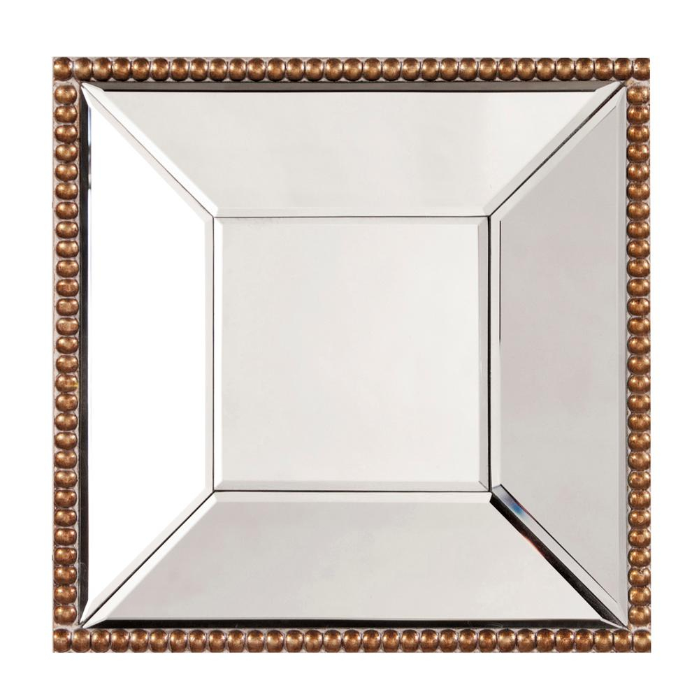 Lydia Square Mirror 99076 – The Home Depot Regarding Lidya Frameless Beveled Wall Mirrors (View 11 of 30)