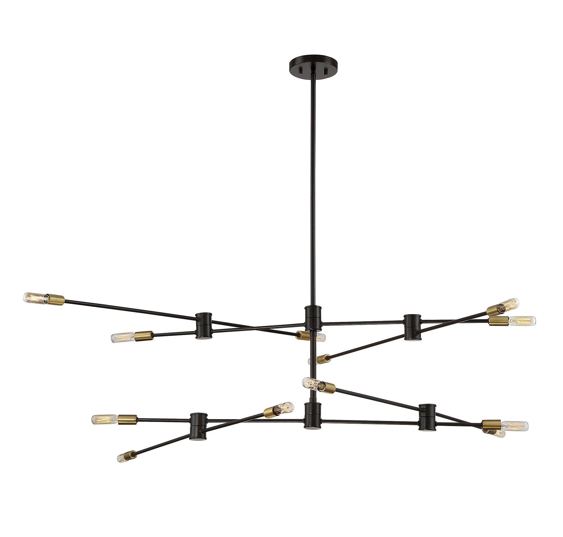 Lyrique 12 Light Chandelier | Lighting | Bronze Chandelier pertaining to Johanne 6-Light Sputnik Chandeliers (Image 18 of 30)