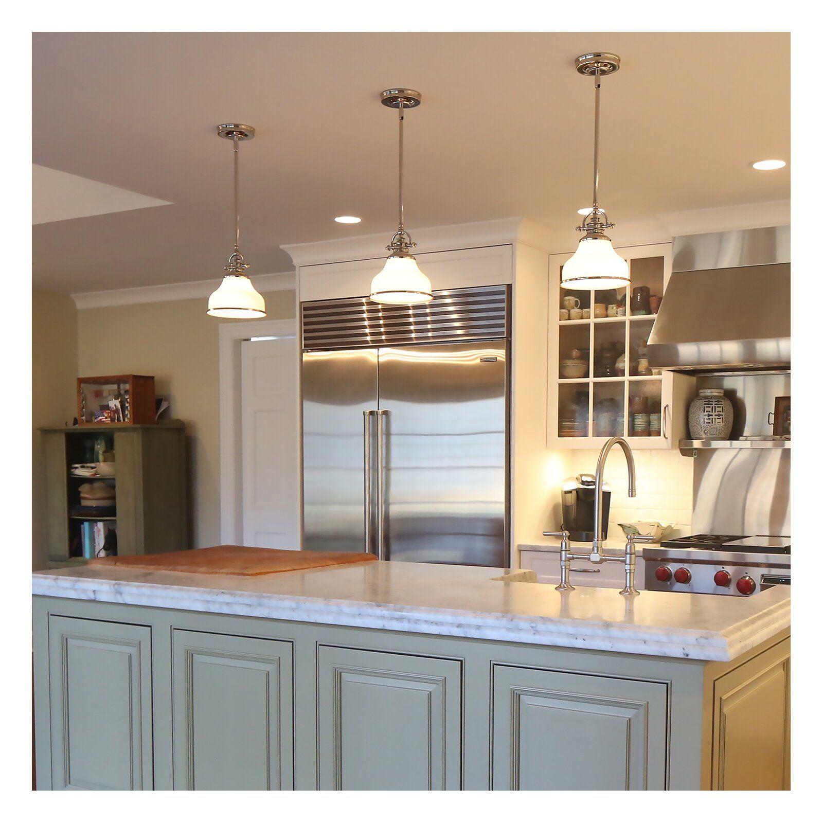 Macon 1-Light Single Bell Pendant In 2019 | House | Kitchen with regard to Macon 1-Light Single Dome Pendants (Image 21 of 30)