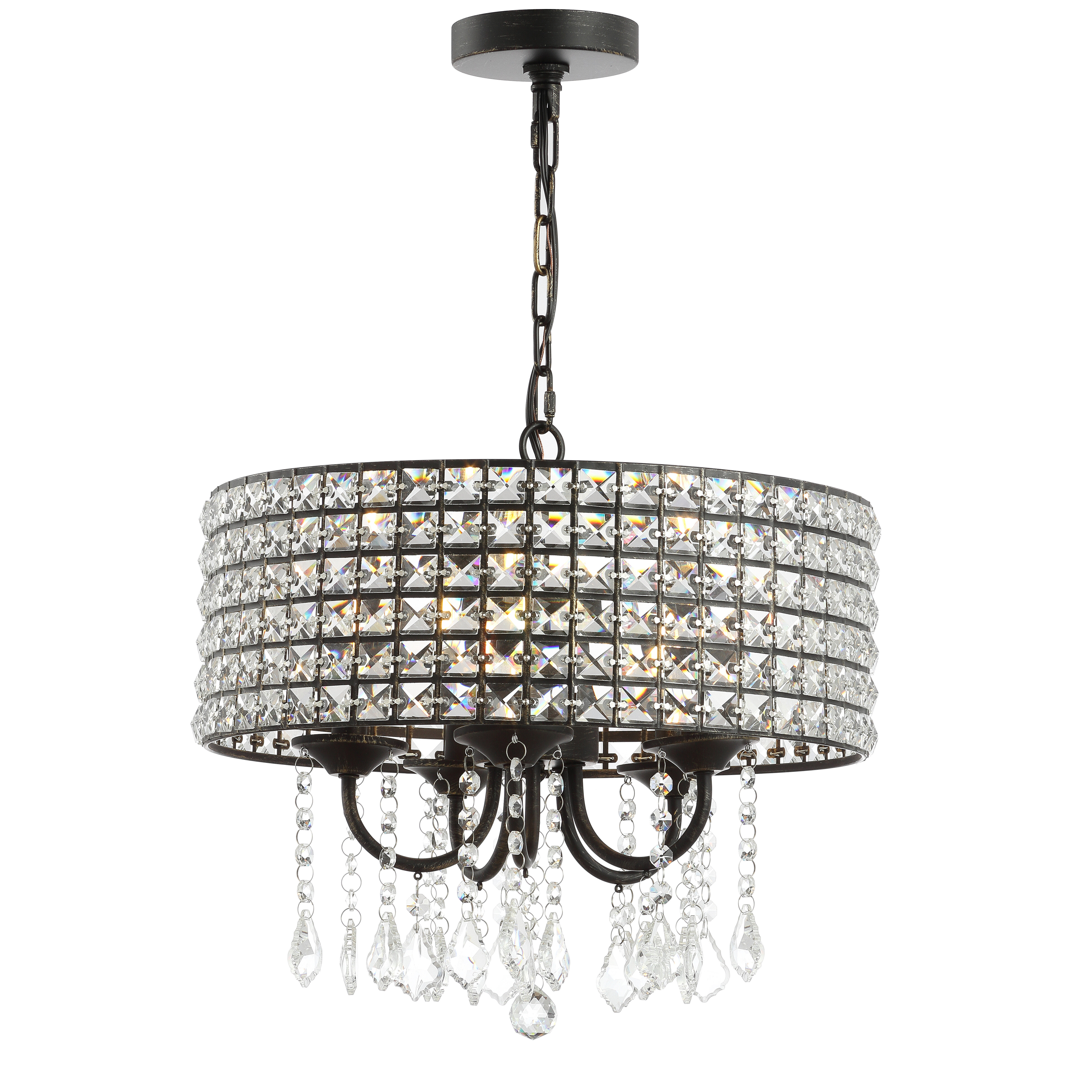 Mae 5 Light Drum Chandelier With Gisselle 4 Light Drum Chandeliers (View 10 of 30)