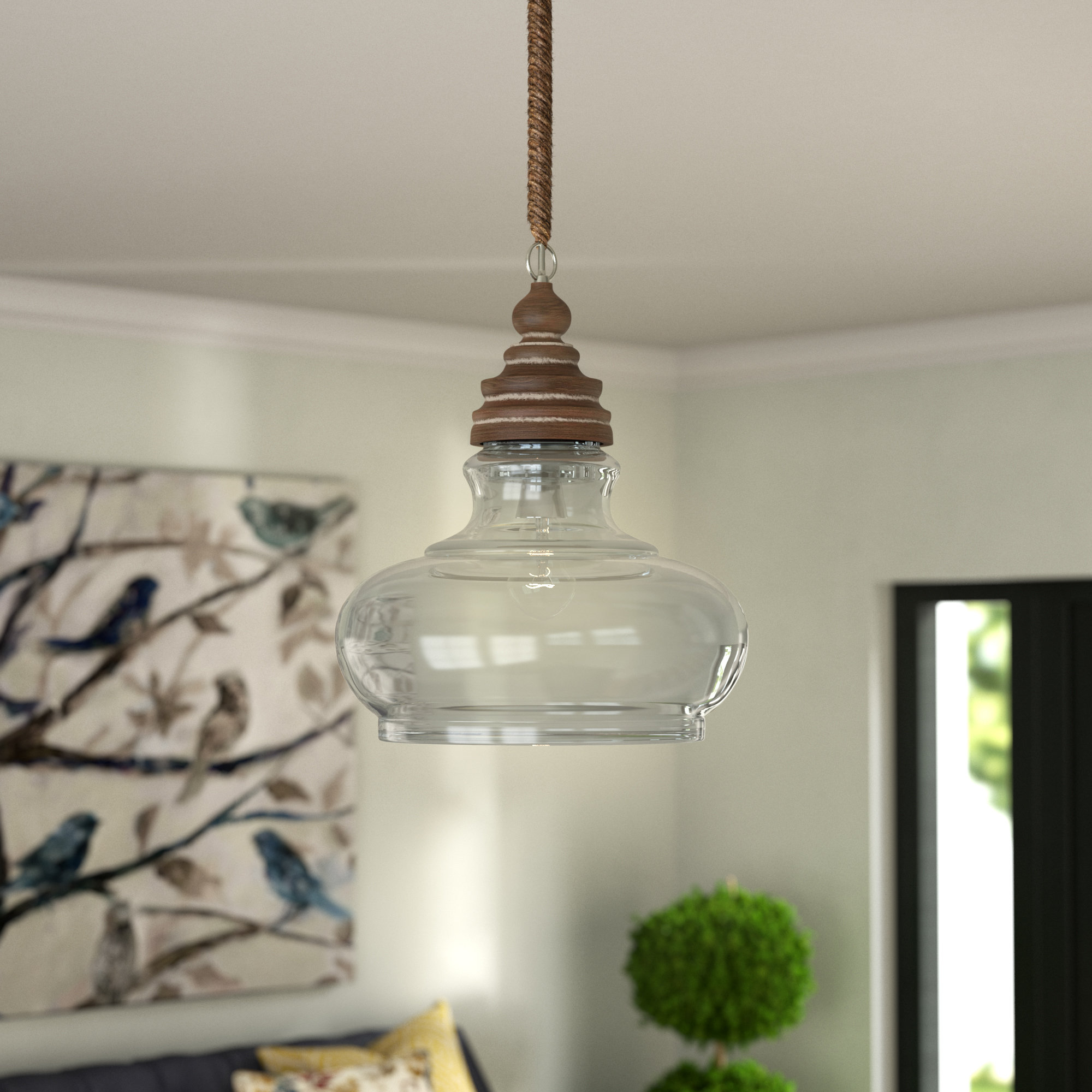 Maelle 1 Light Single Bell Pendant Intended For Akakios 1 Light Single Bell Pendants (Image 19 of 30)