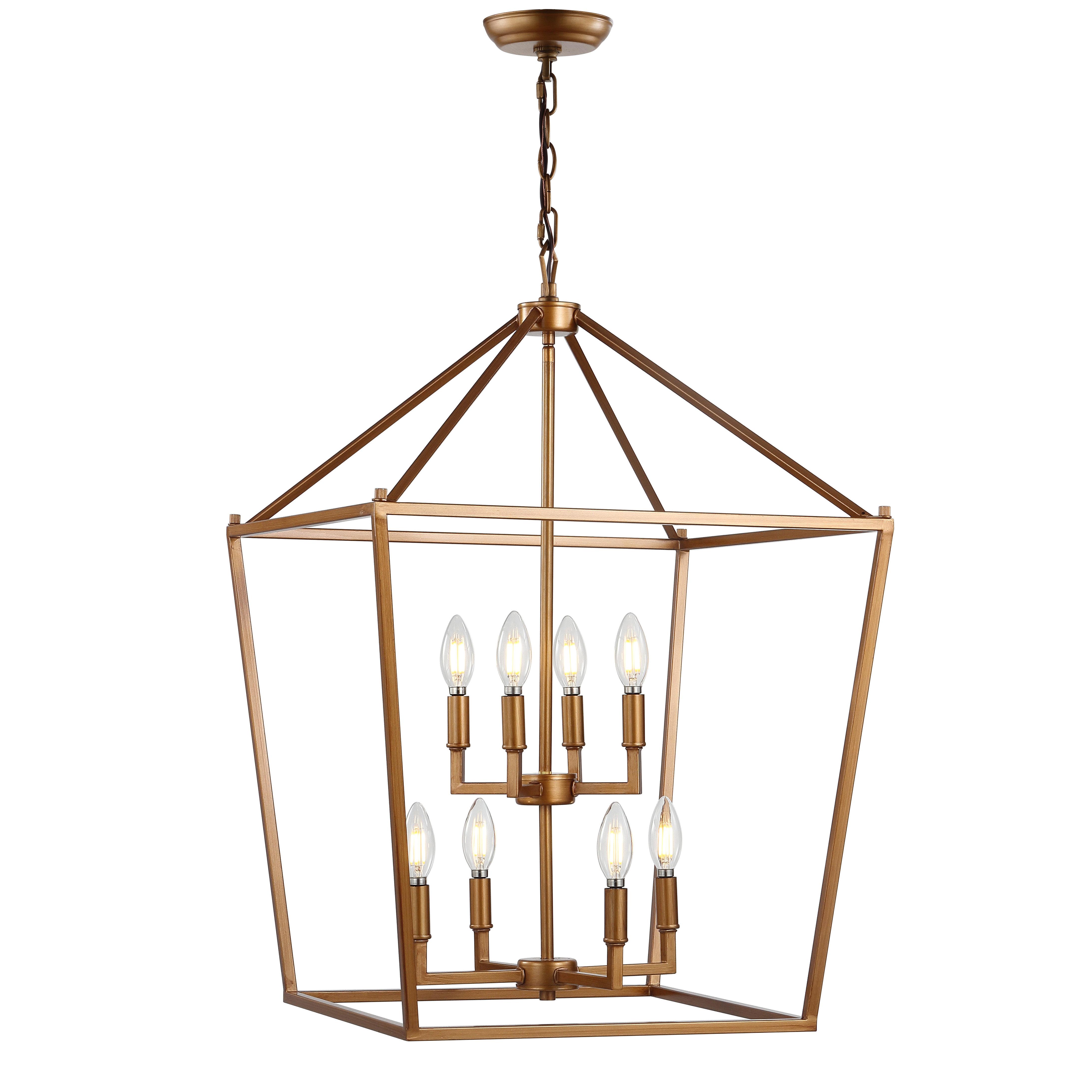 Maggiemae 8-Light Lantern Pendant within Odie 8-Light Lantern Square / Rectangle Pendants (Image 17 of 30)