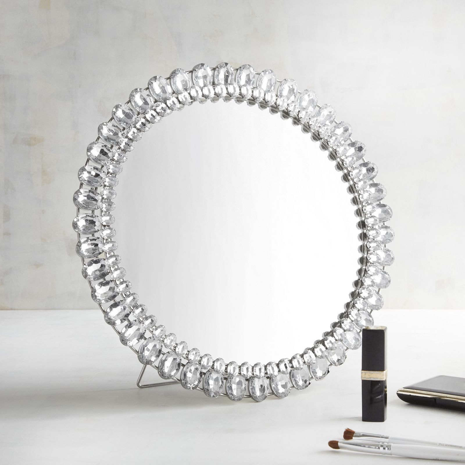 Make A Sparkling Statement With Our Silver Jeweled Accent throughout Silver Frame Accent Mirrors (Image 20 of 30)