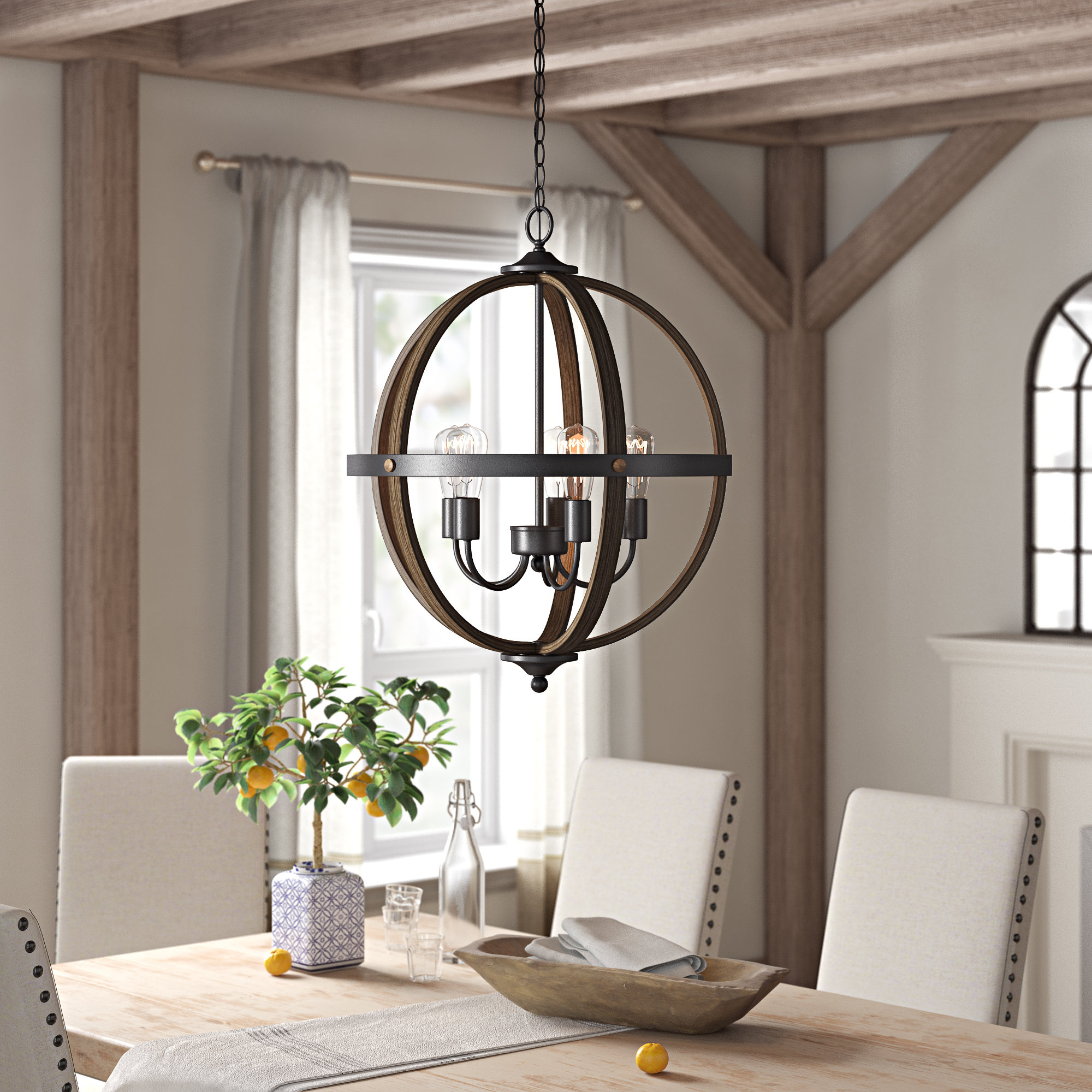 Makeba 5-Light Globe Chandelier with regard to Joon 6-Light Globe Chandeliers (Image 21 of 30)