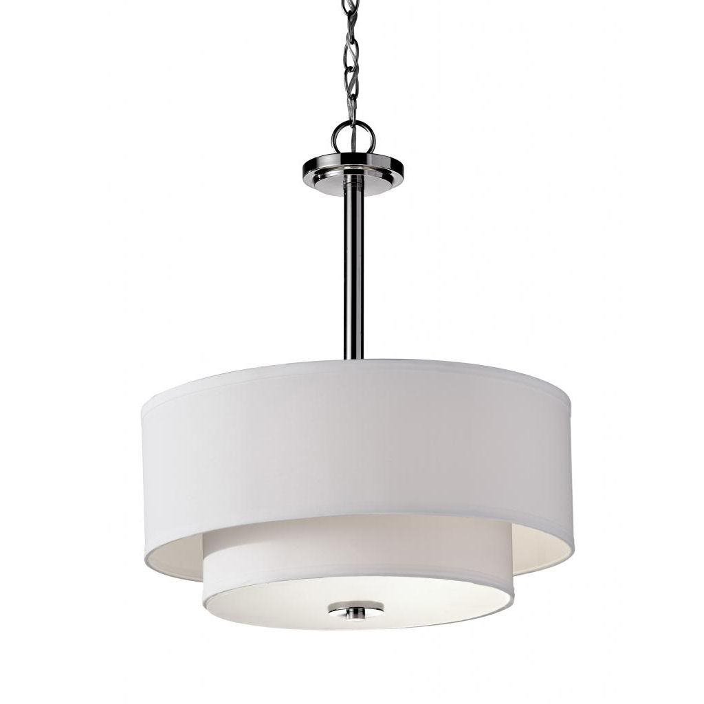 Malibu 3-Light Polished Nickle Chandelier | Products In 2019 in Montes 3-Light Drum Chandeliers (Image 14 of 30)