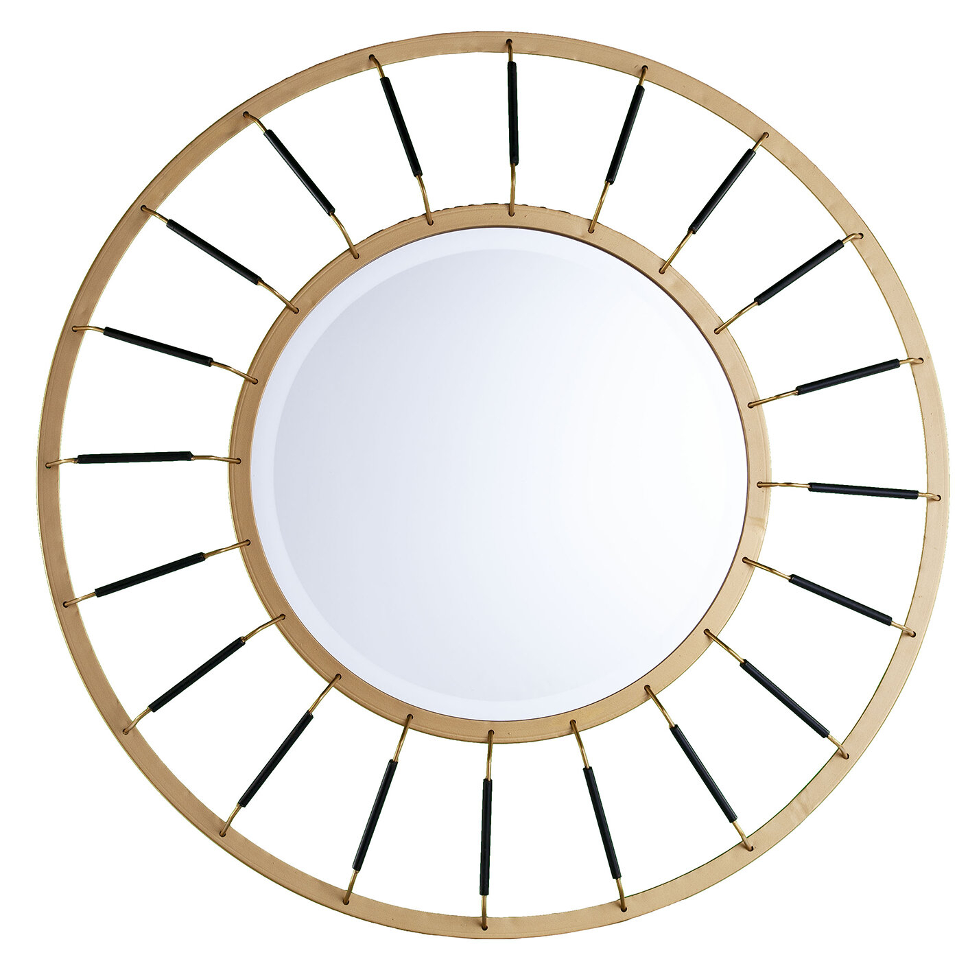 Maniscalco Round Decorative Modern Accent Mirror Within Trigg Accent Mirrors (View 22 of 30)