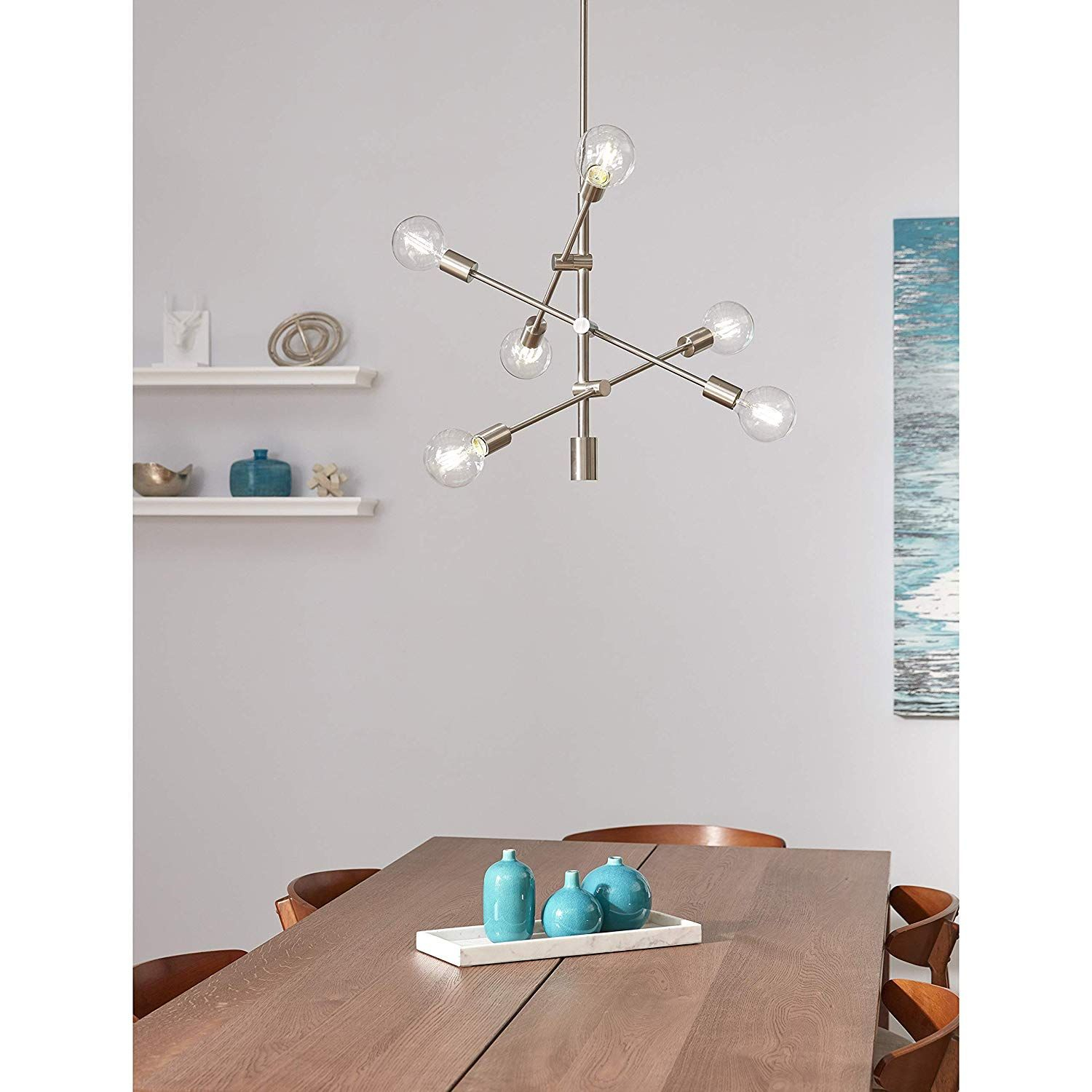 Marabella Led Sputnik Chandelier Light Fixture, Brushed in Asher 12-Light Sputnik Chandeliers (Image 20 of 30)