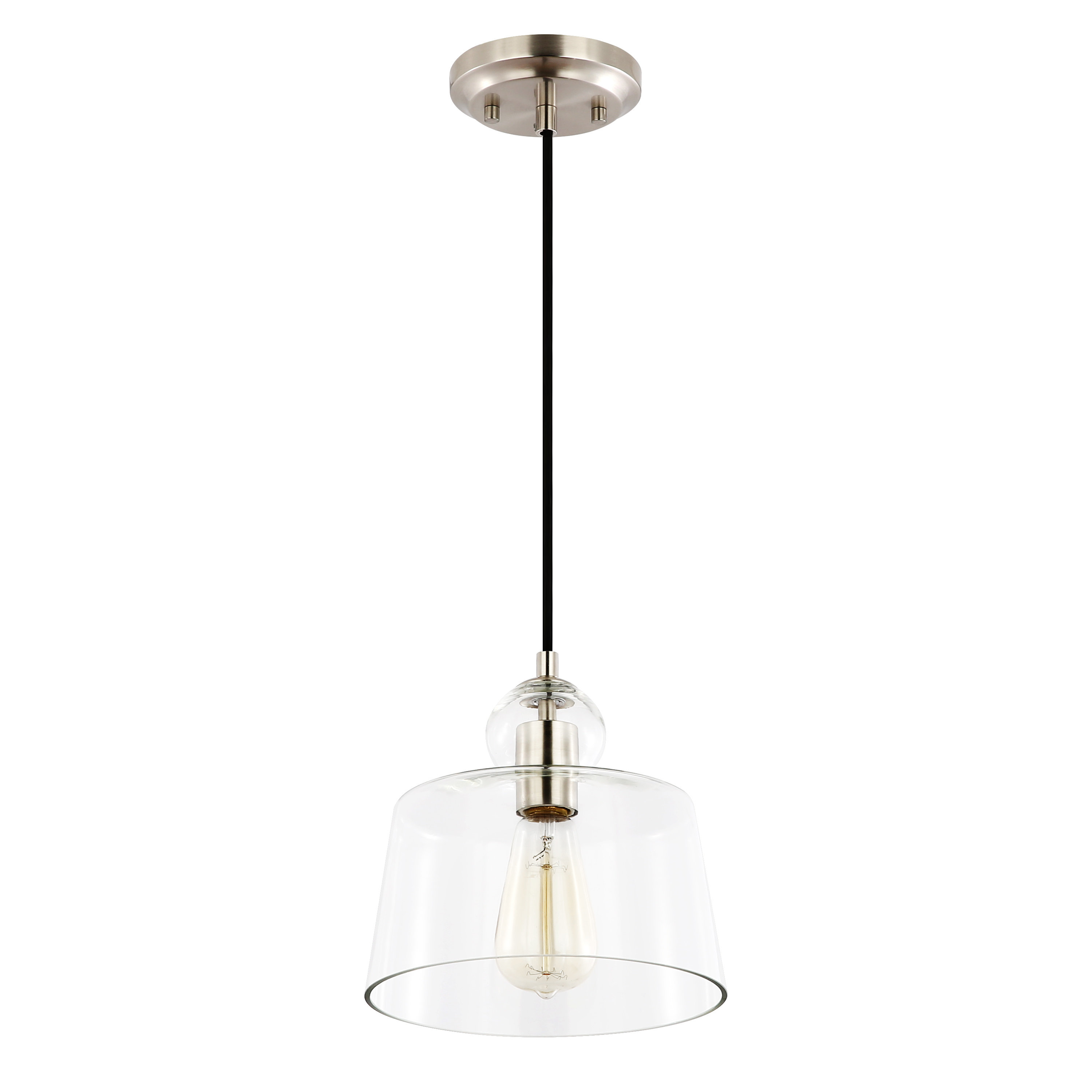 Marcello 1 Light Bell Pendant Within Moyer 1 Light Single Cylinder Pendants (View 9 of 30)