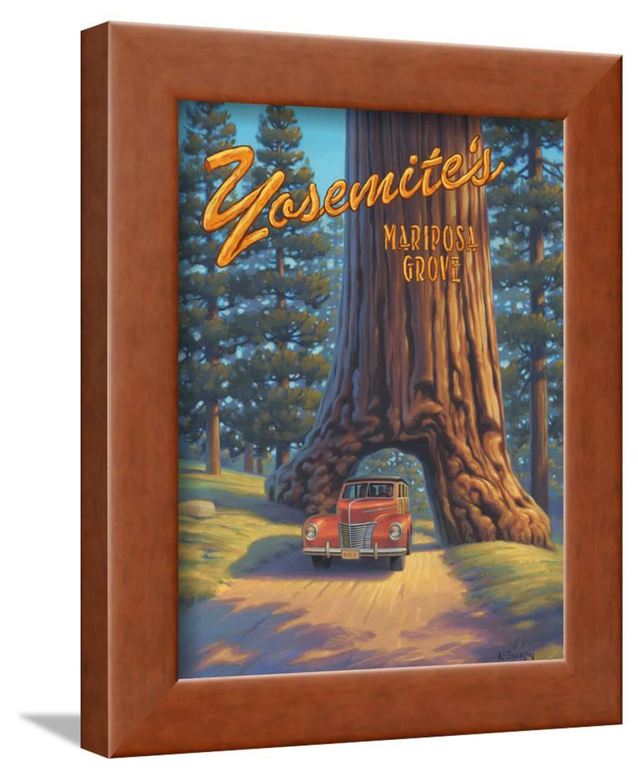 Mariposa Grove Framed Print Wall Artkerne Erickson regarding Mariposa 9 Piece Wall Decor (Image 15 of 30)
