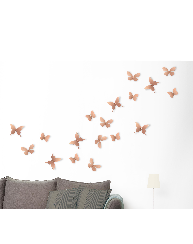 Mariposa Metal Wall Decor - Copper - 9-Piece throughout Mariposa 9 Piece Wall Decor (Image 18 of 30)