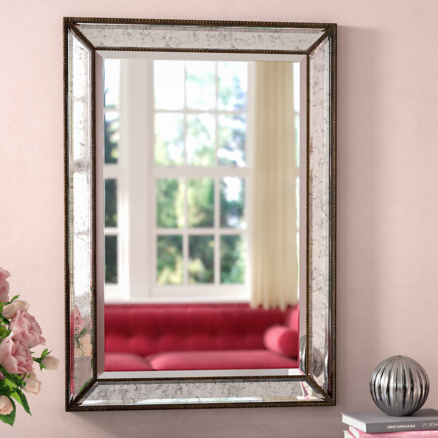 Marsha Traditional Rectangle Mdf/mirror Framed Accent Mirror for Boyers Wall Mirrors (Image 21 of 30)