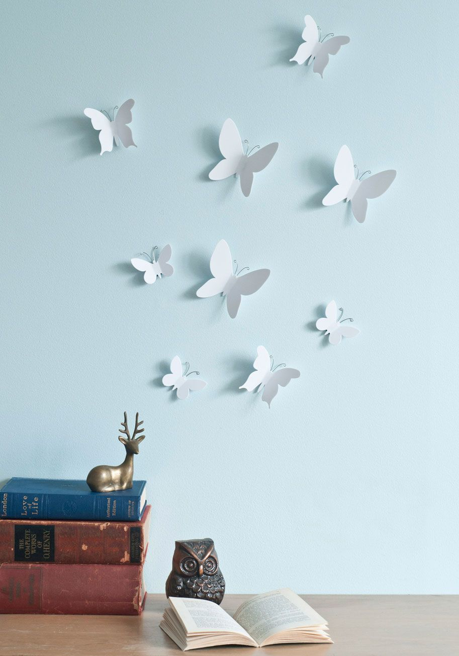 Marvelous Metamorphosis Wall Decor Set - White, Dorm Decor pertaining to Mariposa 9 Piece Wall Decor (Image 20 of 30)