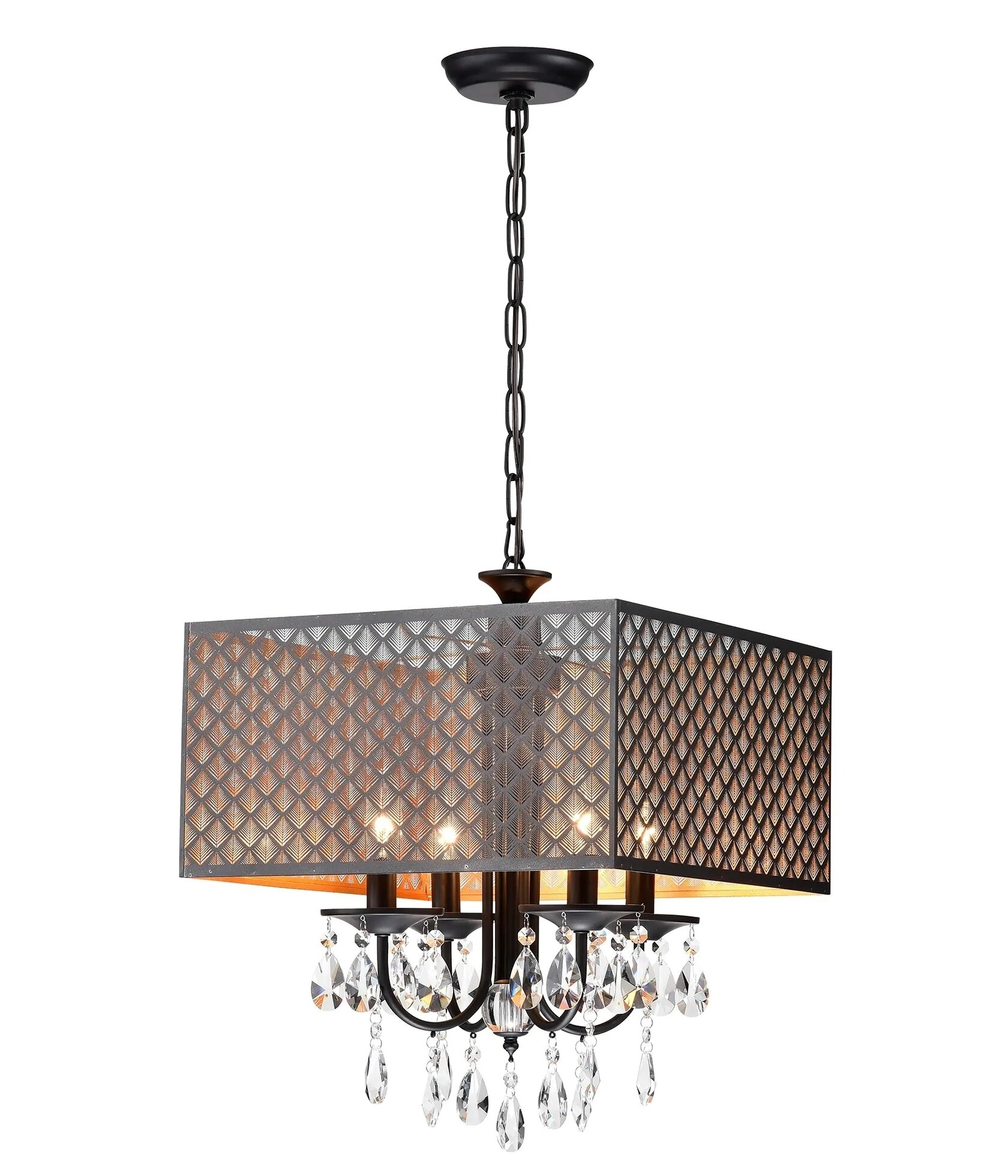 Mathers 4 Light Rectangle Chandelier Within Gisselle 4 Light Drum Chandeliers (View 14 of 30)
