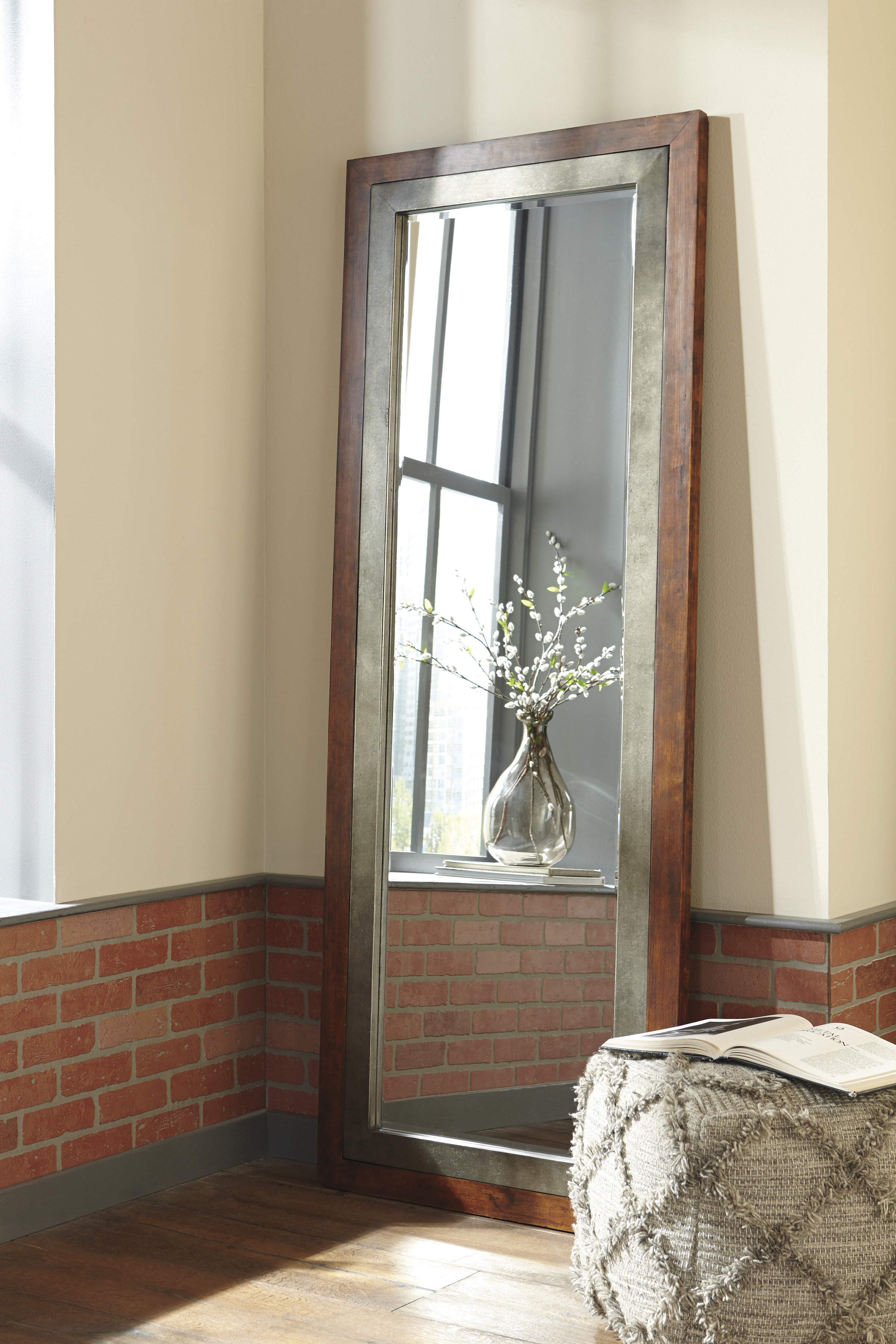 Matheson Rectangle Wood Accent Wall Mirror Throughout Rectangle Accent Wall Mirrors (View 12 of 30)