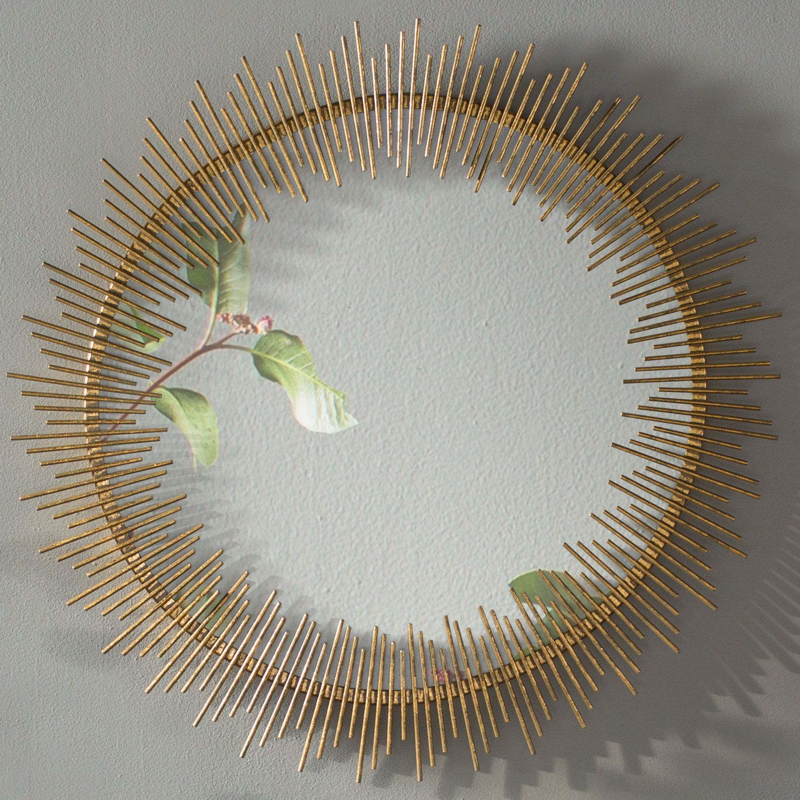 Maxim Round Sunray Circle Wall Mirror | Products | Wall intended for Jarrod Sunburst Accent Mirrors (Image 17 of 30)