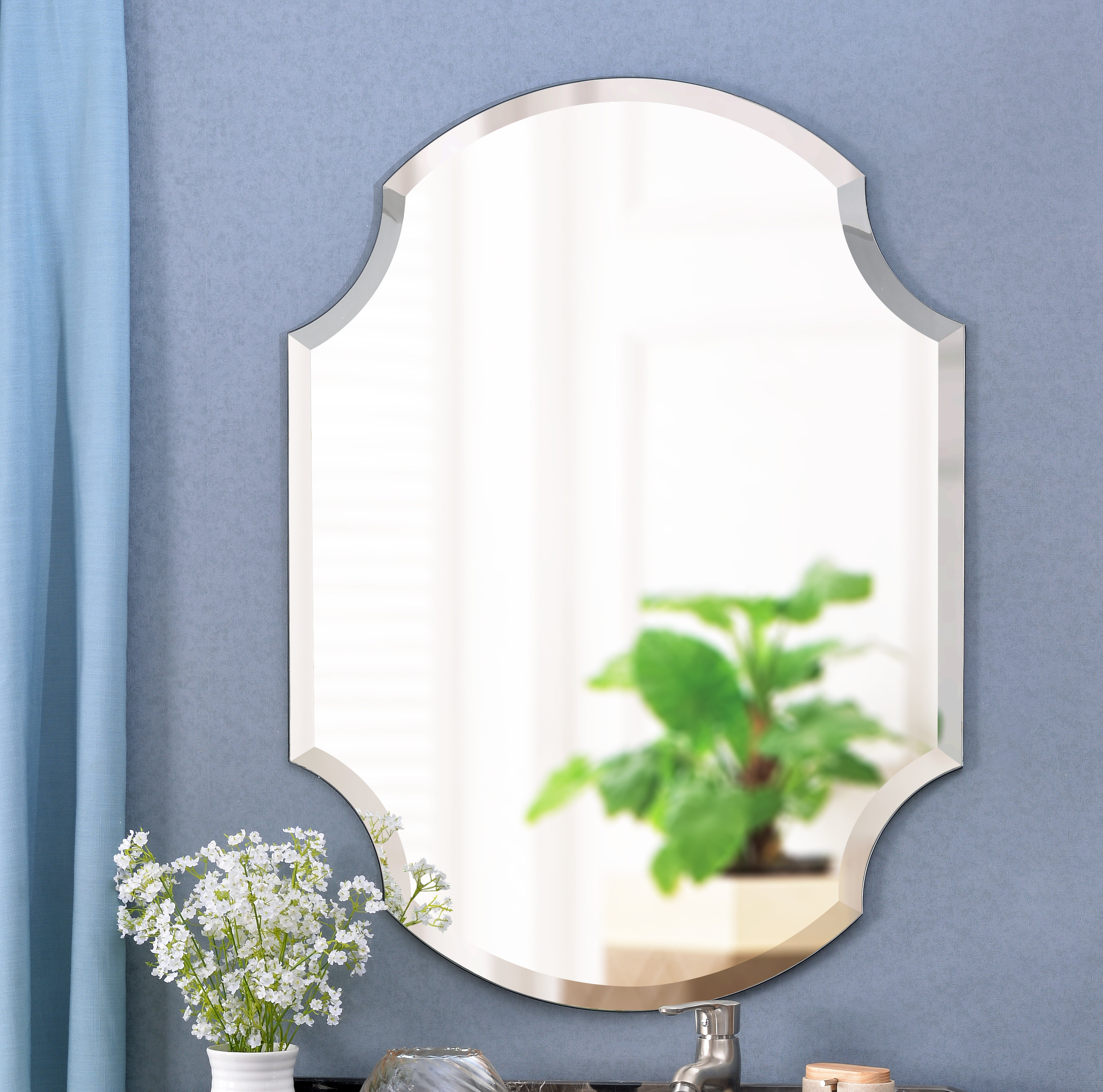 Mcclure Accent Mirror intended for Dariel Tall Arched Scalloped Wall Mirrors (Image 16 of 30)