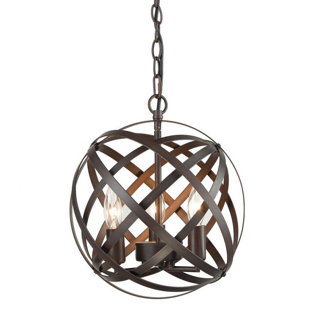 Mcinerney Cage 3-Light Globe Chandelier regarding Shipststour 3-Light Globe Chandeliers (Image 25 of 30)