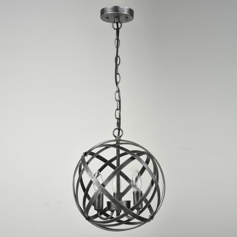 Mcinerney Cage 3 Light Globe Chandelier With Shipststour 3 Light Globe Chandeliers (View 26 of 30)