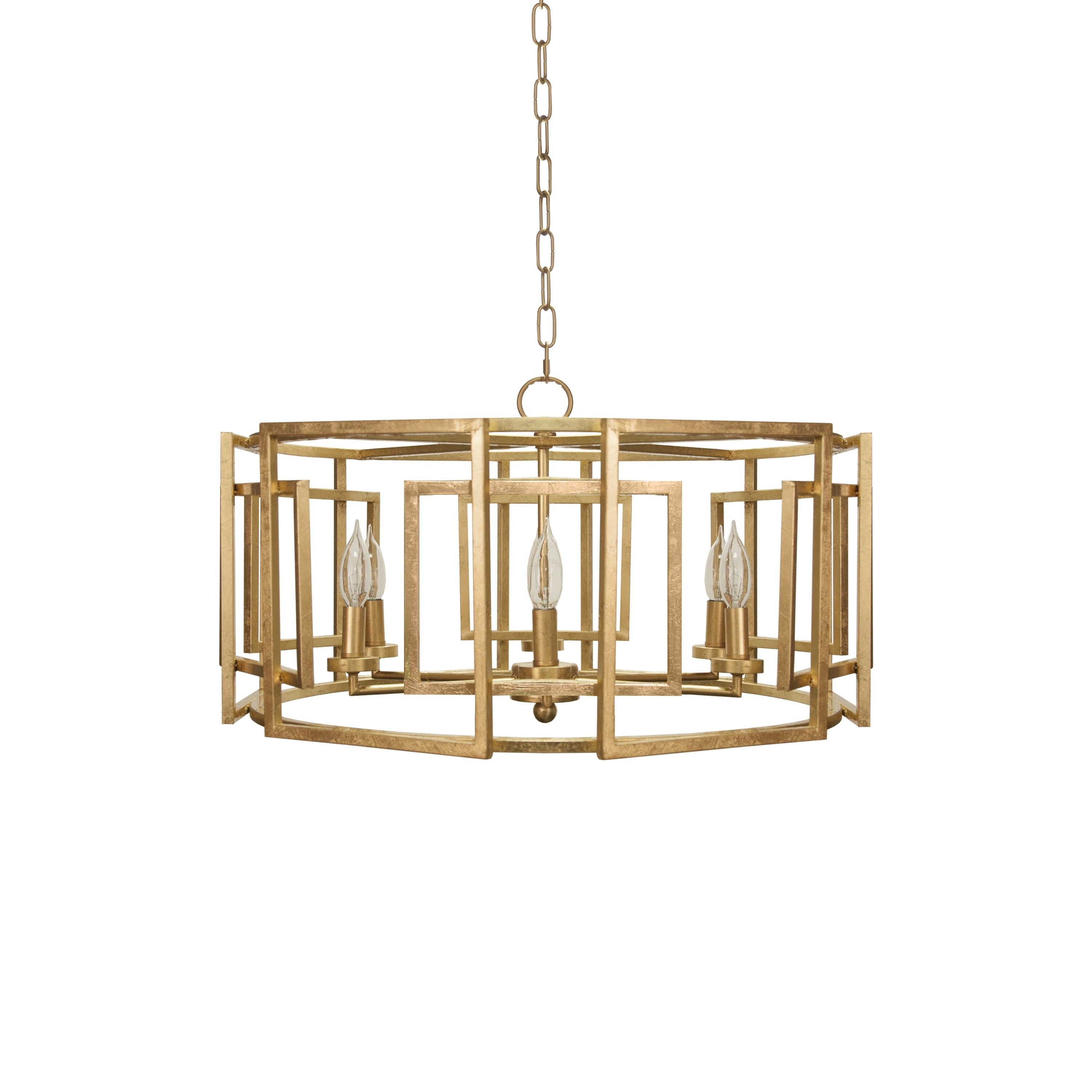 Mckenzie Gold Leaf Pendant | Lighting | Modern Chandelier pertaining to Wightman Drum Chandeliers (Image 16 of 30)