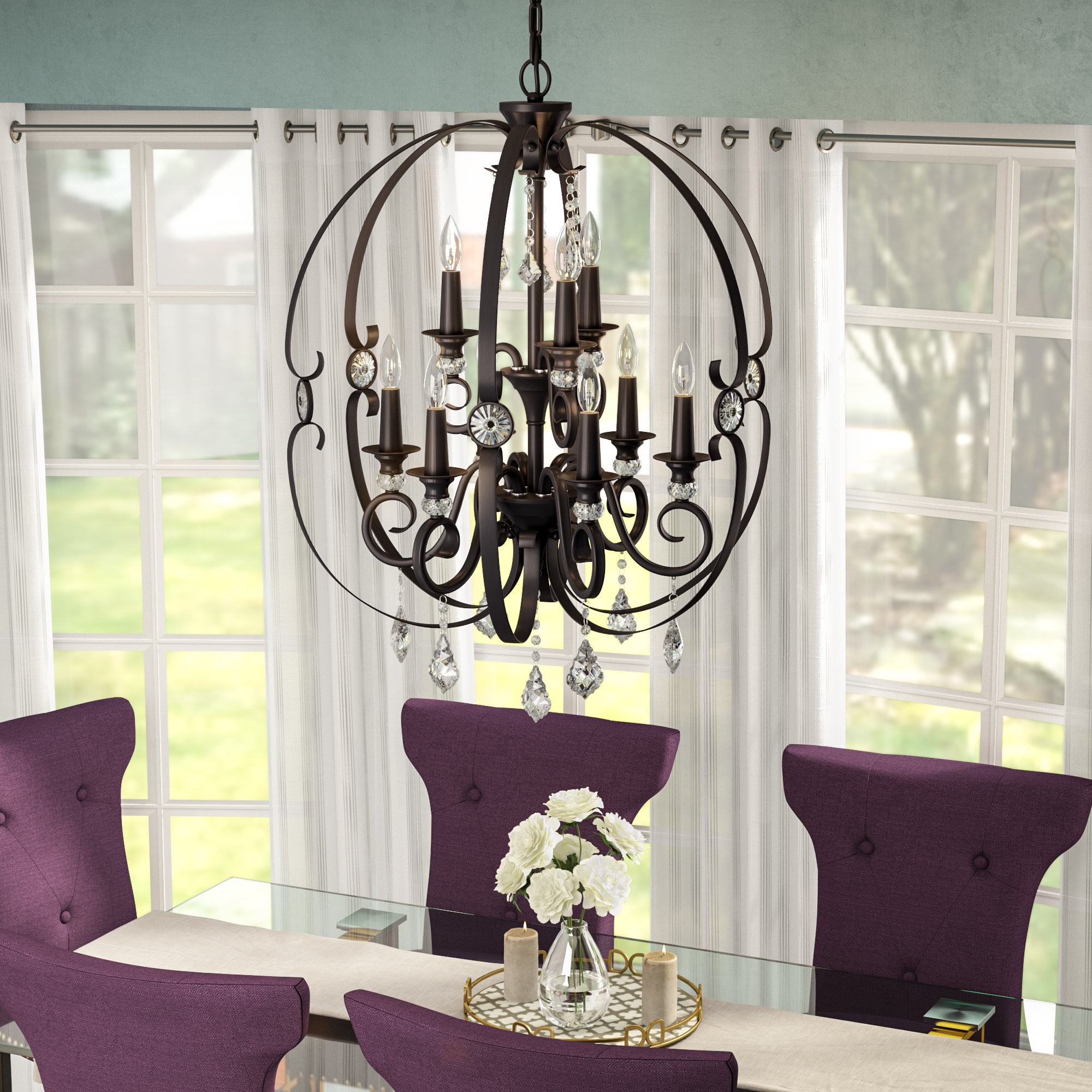 Mcknight 9 Light Chandelier | Wayfair with regard to Mcknight 9-Light Chandeliers (Image 20 of 30)