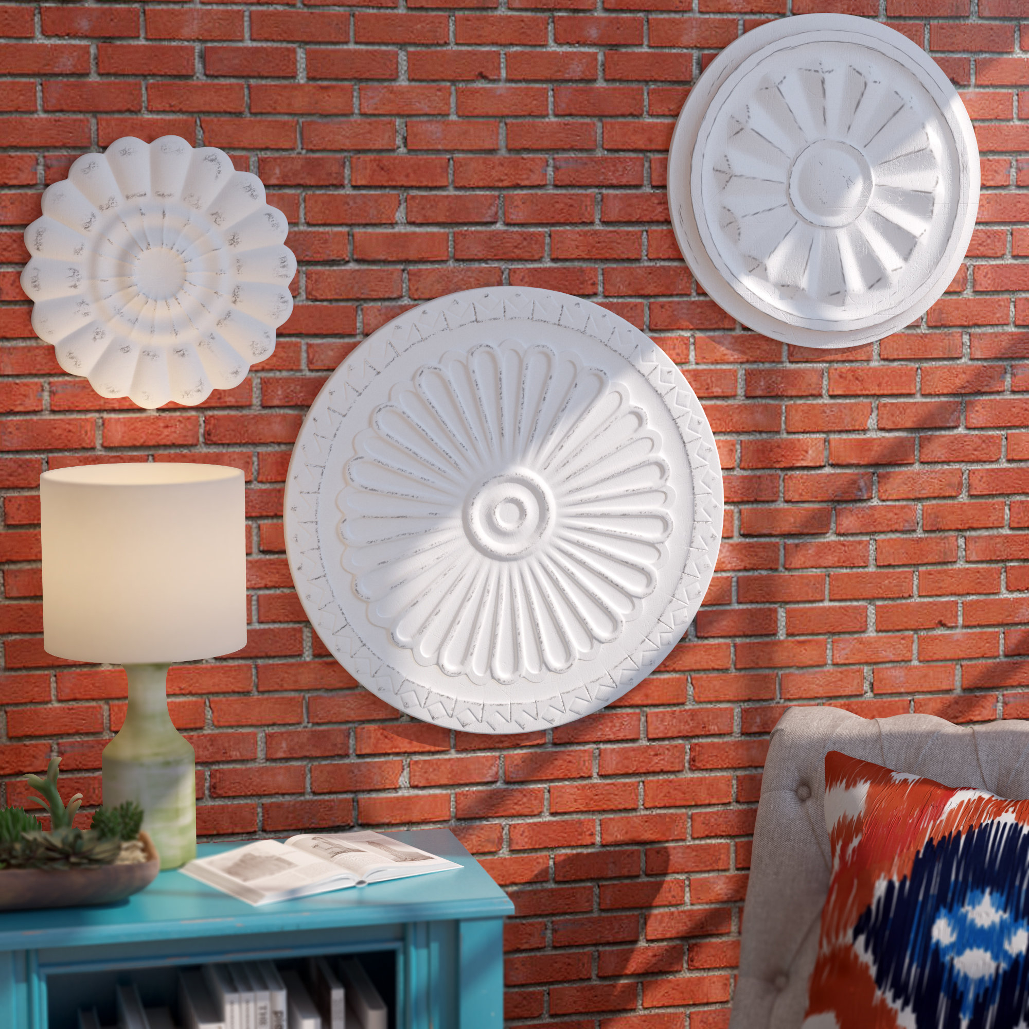 Medallion Wall Decor | Wayfair in European Medallion Wall Decor (Image 15 of 30)
