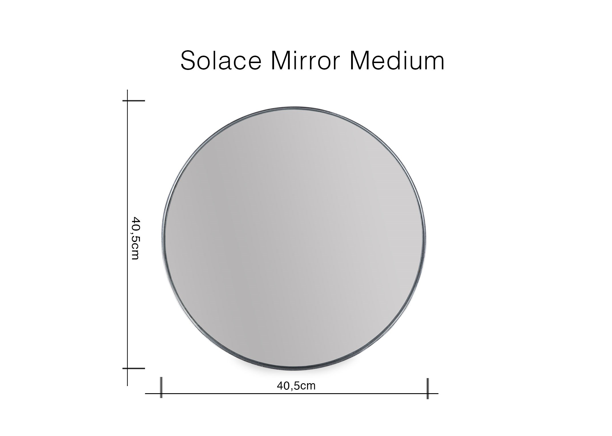 Medium Grey Frame Round Mirror - Colton pertaining to Colton Modern & Contemporary Wall Mirrors (Image 24 of 30)