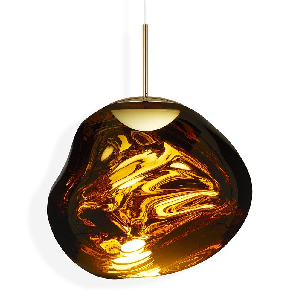 Melt Led Pendant Light - Gold with regard to Amara 2-Light Dome Pendants (Image 18 of 30)