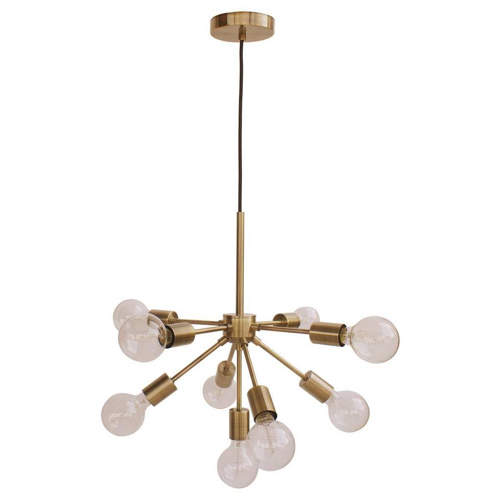 Menlo Asterisk Ceiling Light Brass – Project 62™ | Bedroom Inside Defreitas 18 Light Sputnik Chandeliers (View 16 of 30)