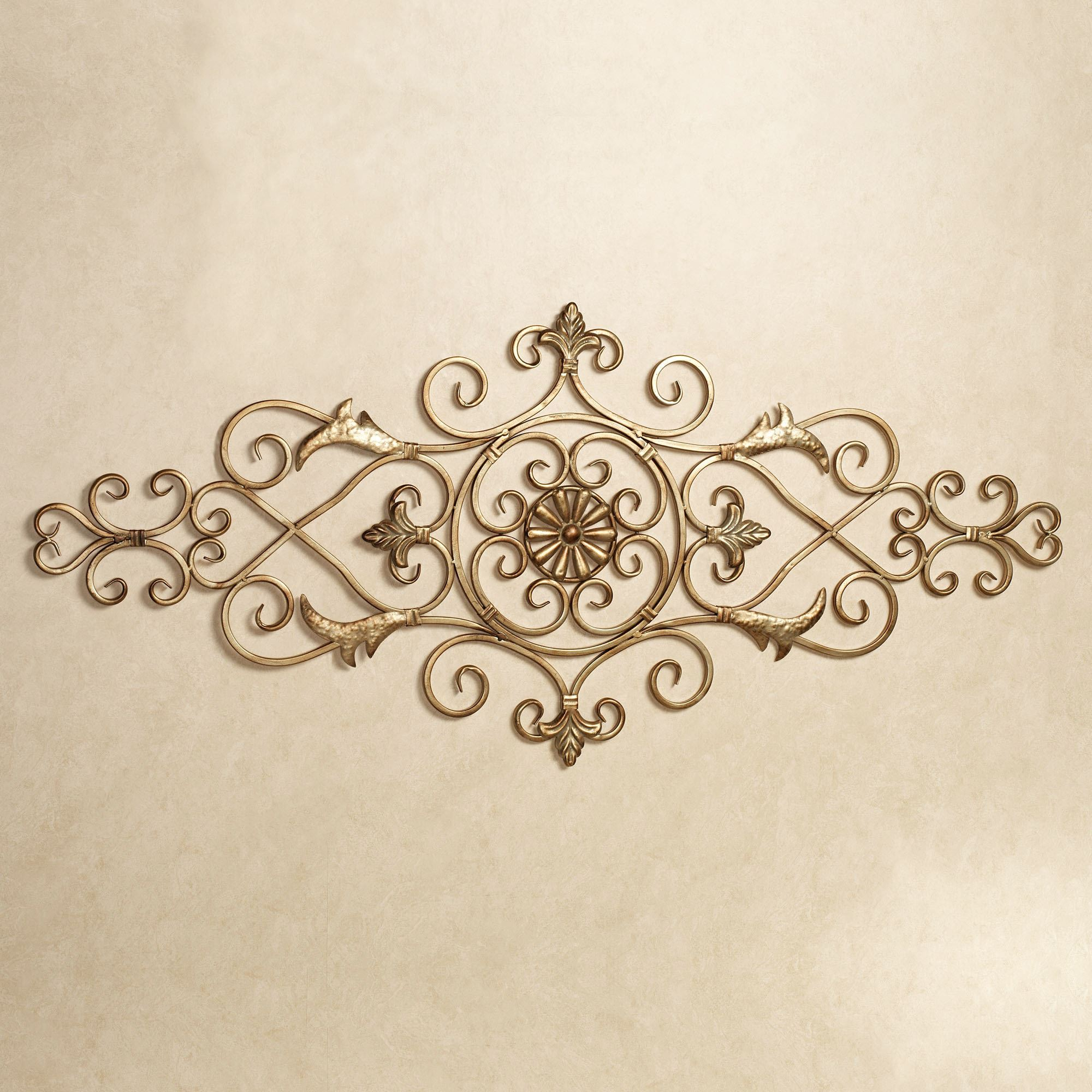 Merano Scrolling Metal Wall Grille in Ornate Scroll Wall Decor (Image 8 of 30)