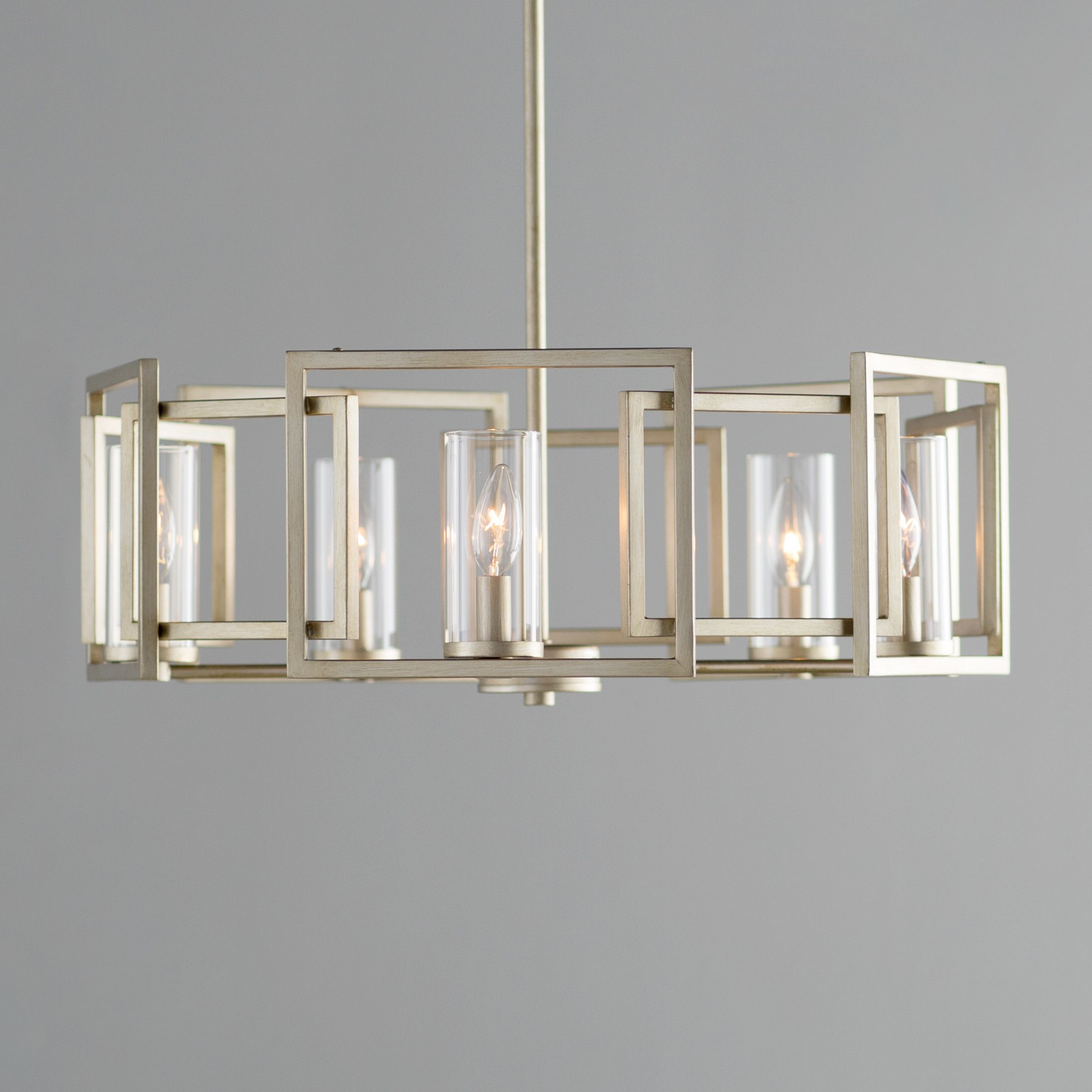 Mercer41 Sean 5-Light Candle-Style Chandelier & Reviews pertaining to Wightman Drum Chandeliers (Image 17 of 30)