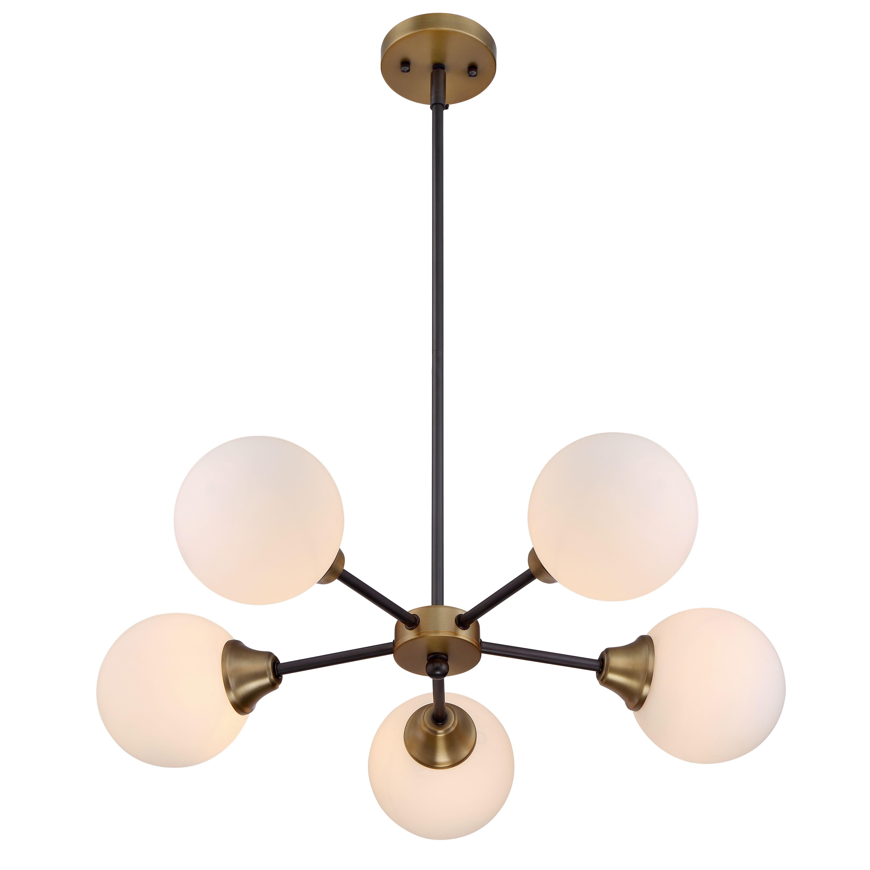 Mercer41 St Helens 5 Light Sputnik Chandelier | Design Throughout Bautista 5 Light Sputnik Chandeliers (View 13 of 30)