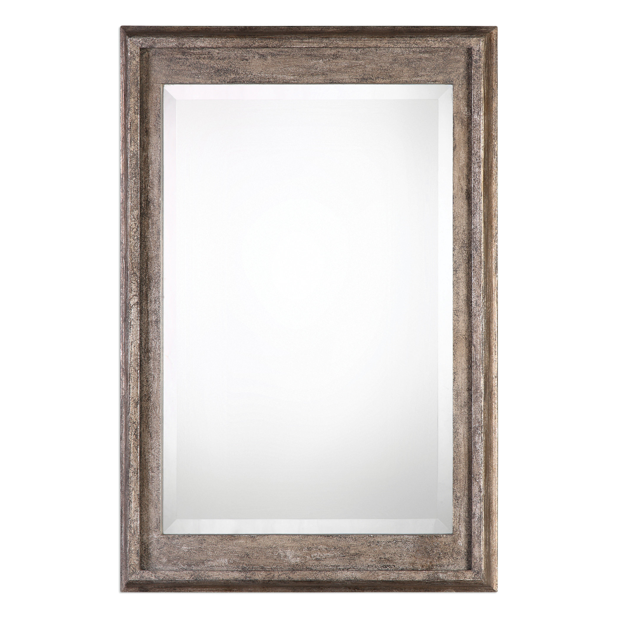 Mercury Glass Framed Mirror | Wayfair For Caja Rectangle Glass Frame Wall Mirrors (View 6 of 30)