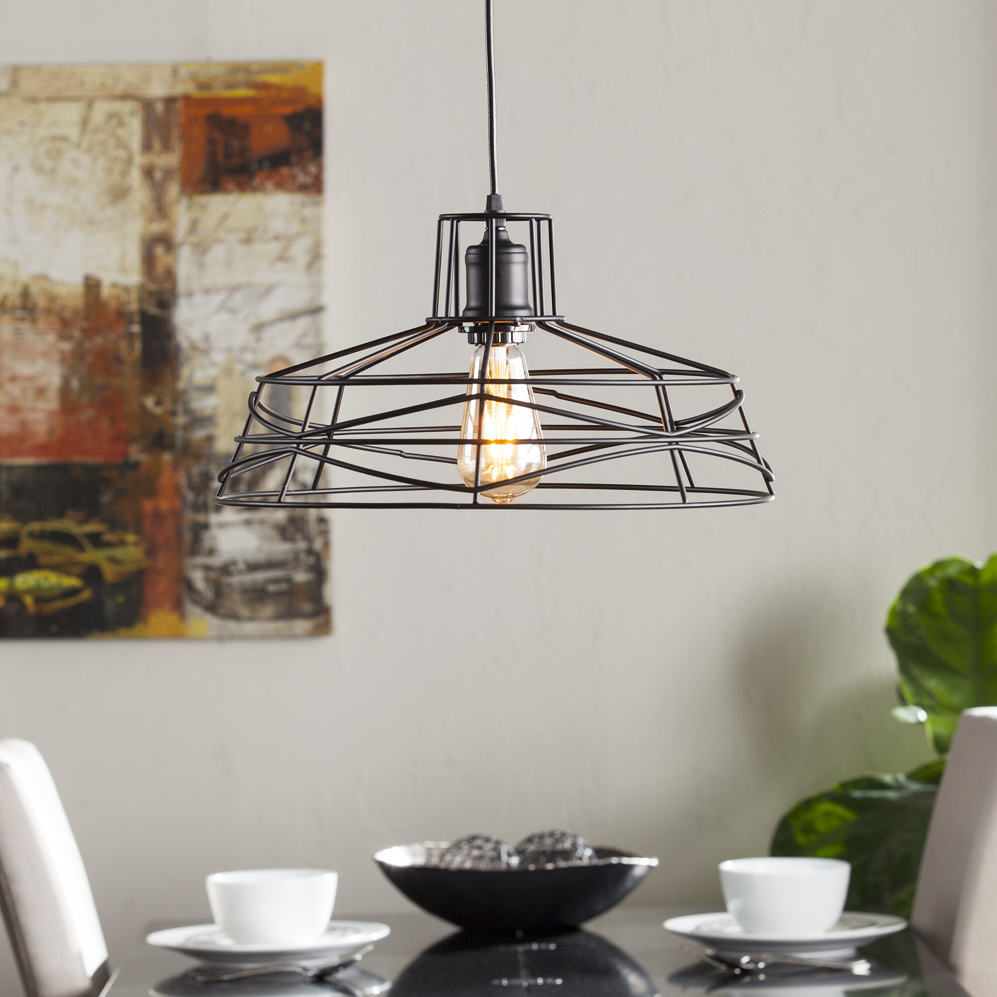 Mercury Row Bressler 1 Light Lantern Pendant Within Hydetown 1 Light Single Geometric Pendants (View 12 of 30)