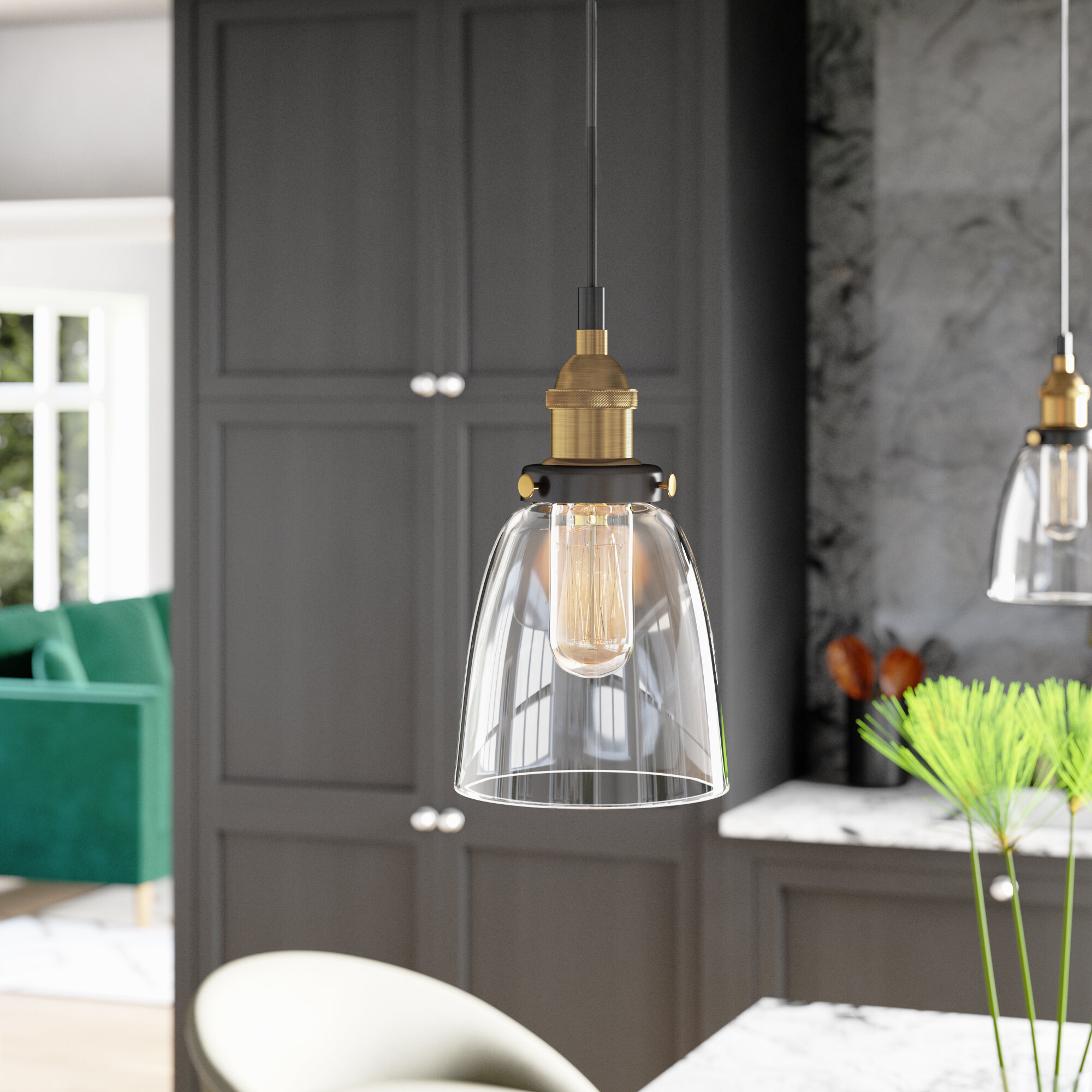 Mercury Row Bundaberg 1 Light Single Bell Pendant & Reviews With Sargent 1 Light Single Bell Pendants (View 18 of 30)