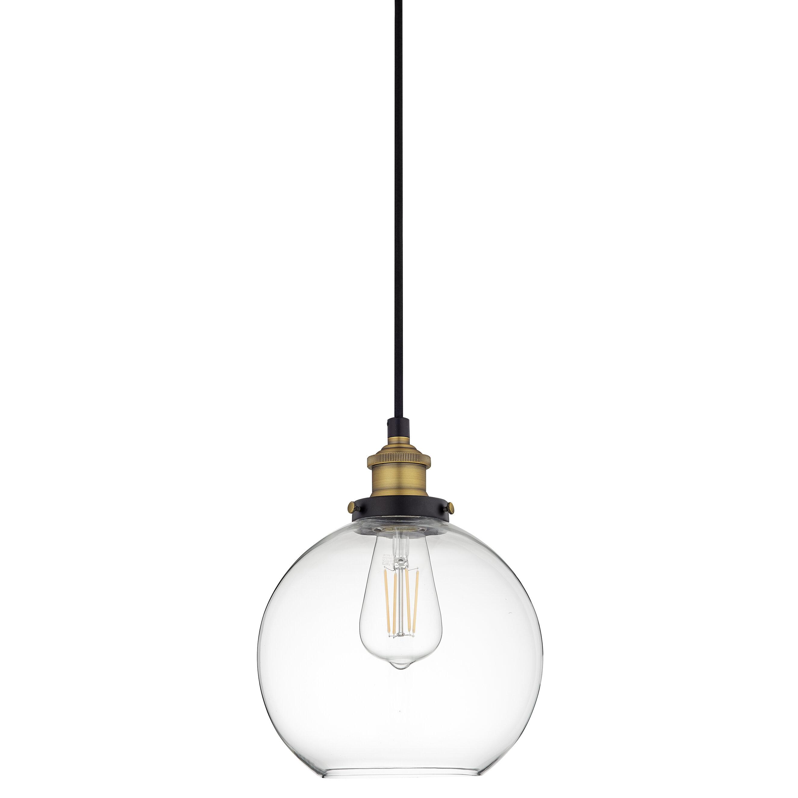 Mercury Row Bundy 1-Light Single Globe Pendant for Granville 2-Light Single Dome Pendants (Image 23 of 30)