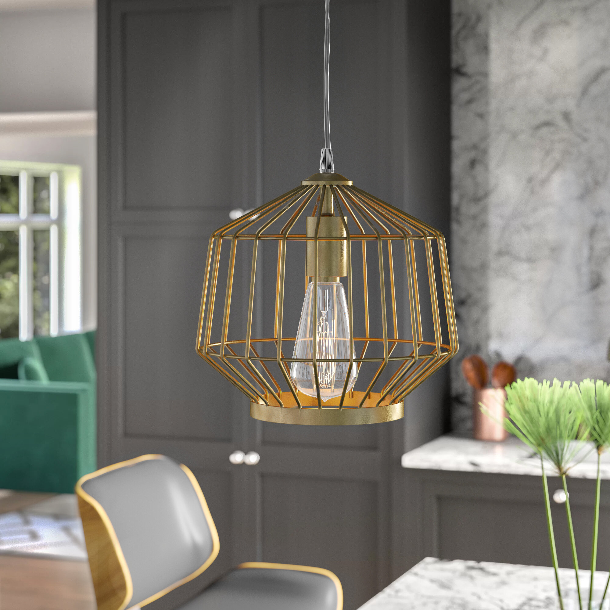 Mercury Row Nesbitt Swag 1 Light Geometric Pendant With Hydetown 1 Light Single Geometric Pendants (View 15 of 30)