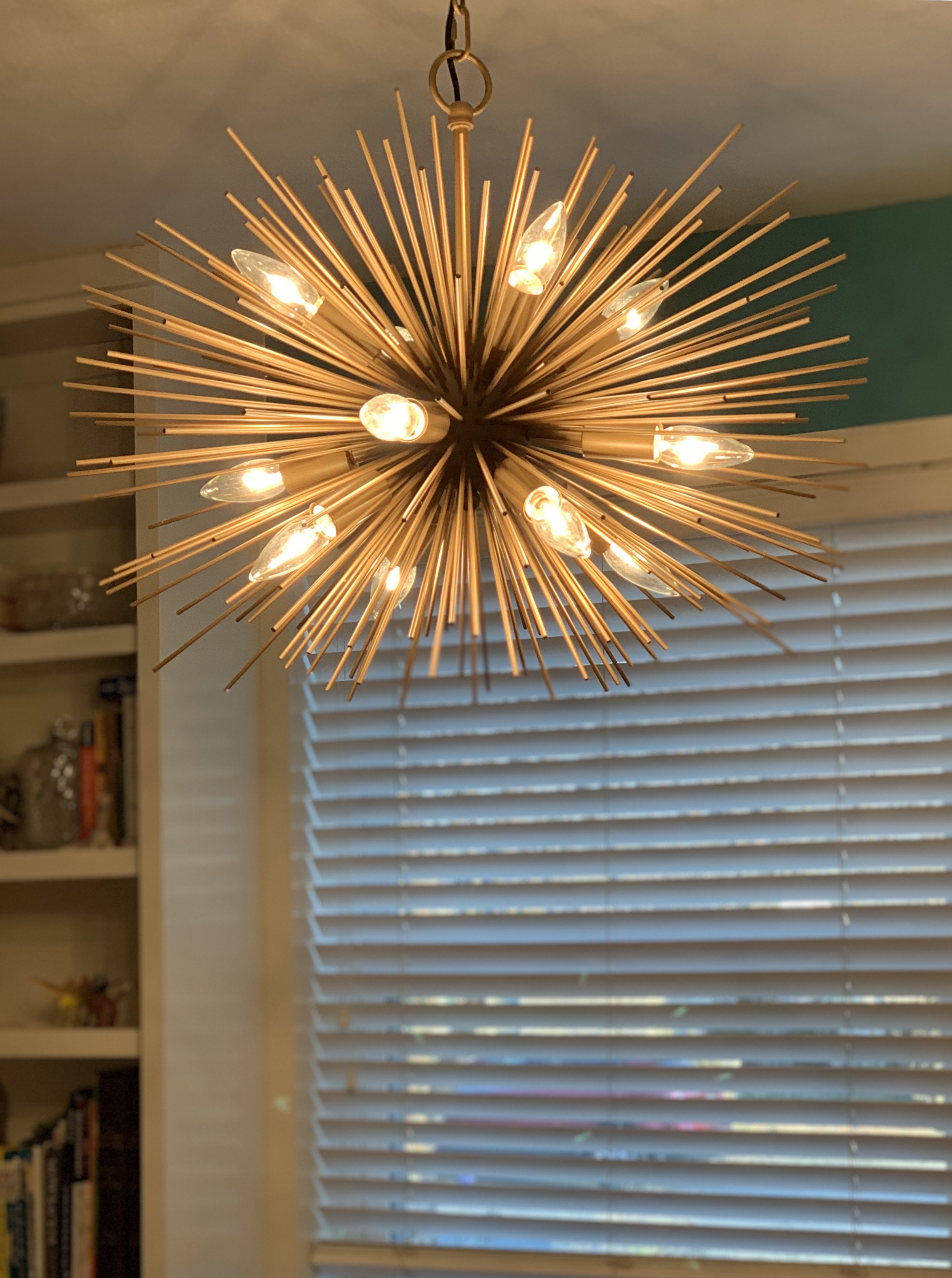 Merry Christmas To Me! | Piece O Cake Blog throughout Johanne 6-Light Sputnik Chandeliers (Image 20 of 30)